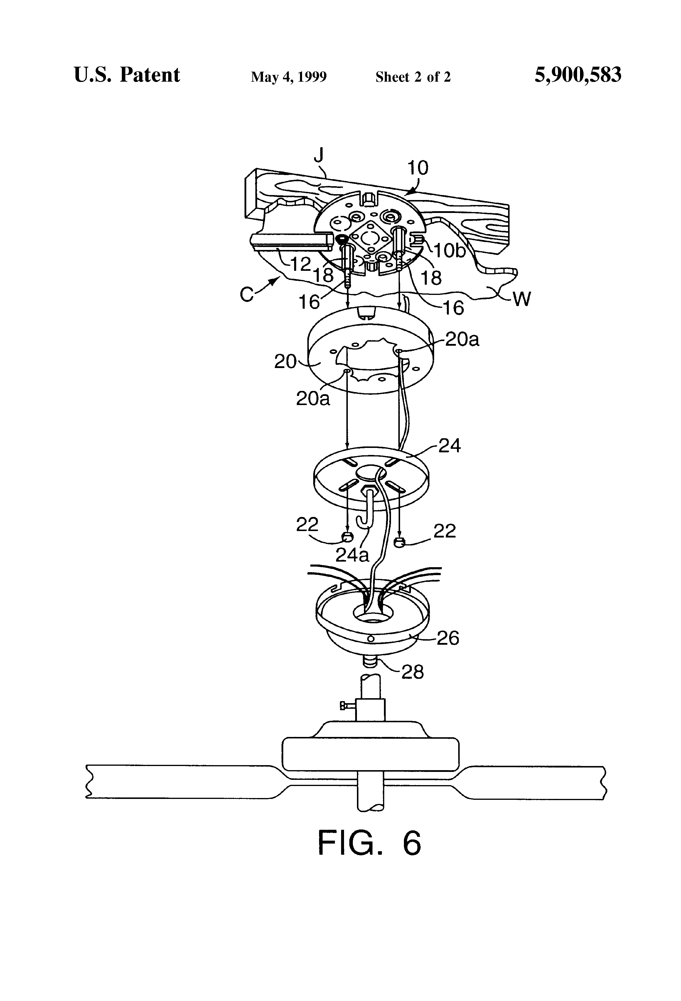 Patent Us5900583 Surface Mount Outlet Box For Supporting