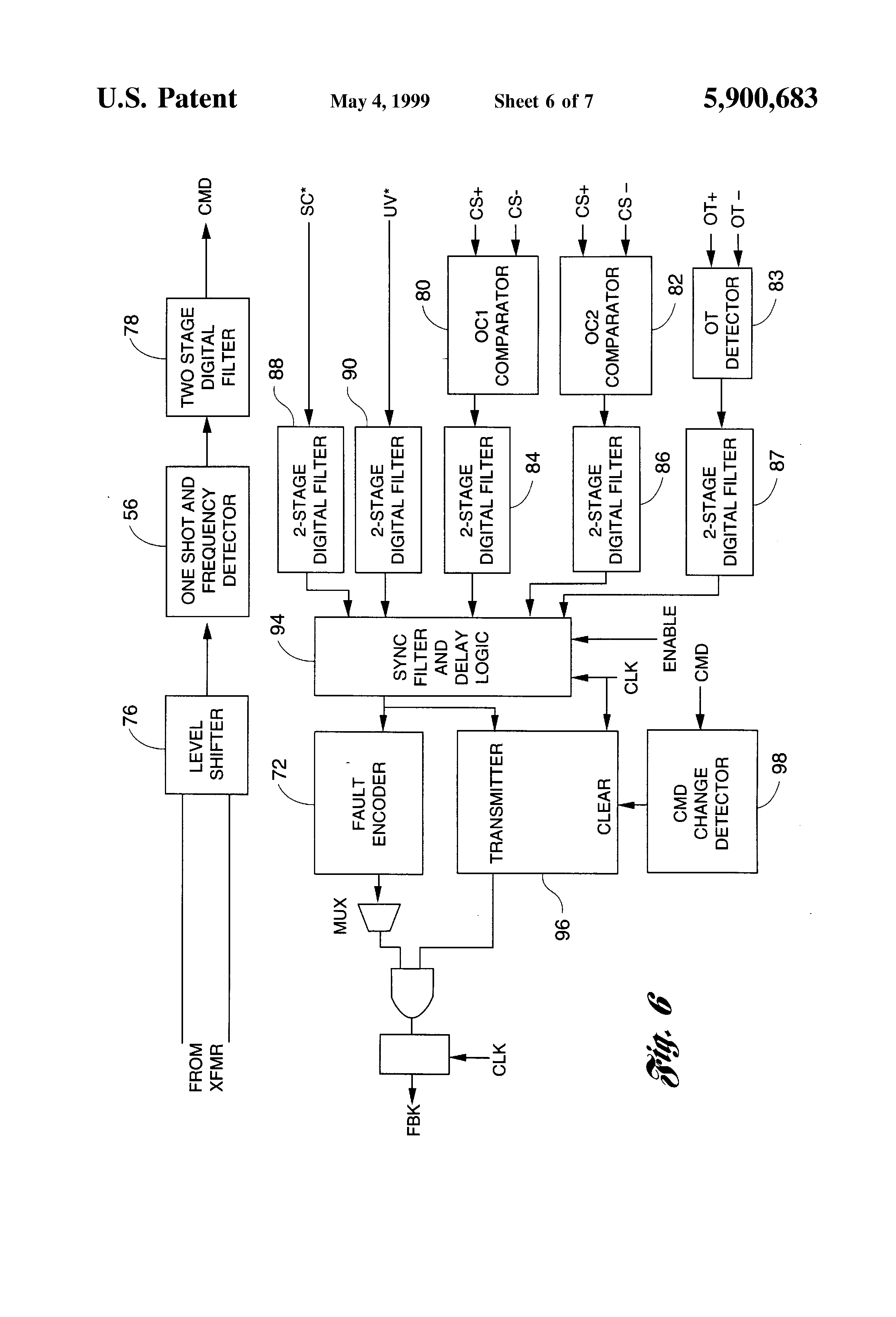 Patent Us5900683 Isolated Gate Driver For Power Switching Device With The Triac This Circuit Can Also Be Used To Improve Immunity Drawing