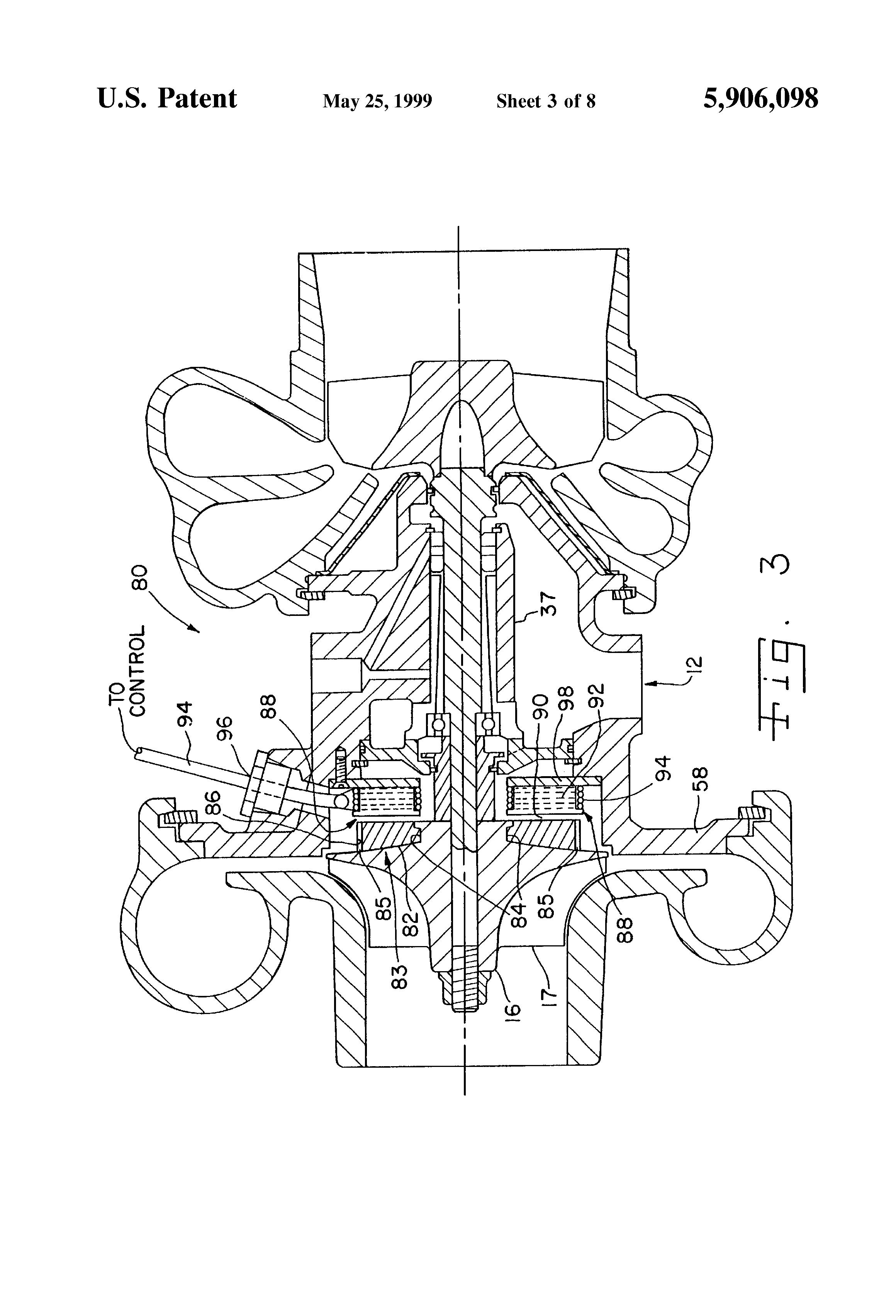 Patent Us5906098 Motor Generator Assisted Turbocharging Systems 2012 Navistar Engine Diagram Drawing
