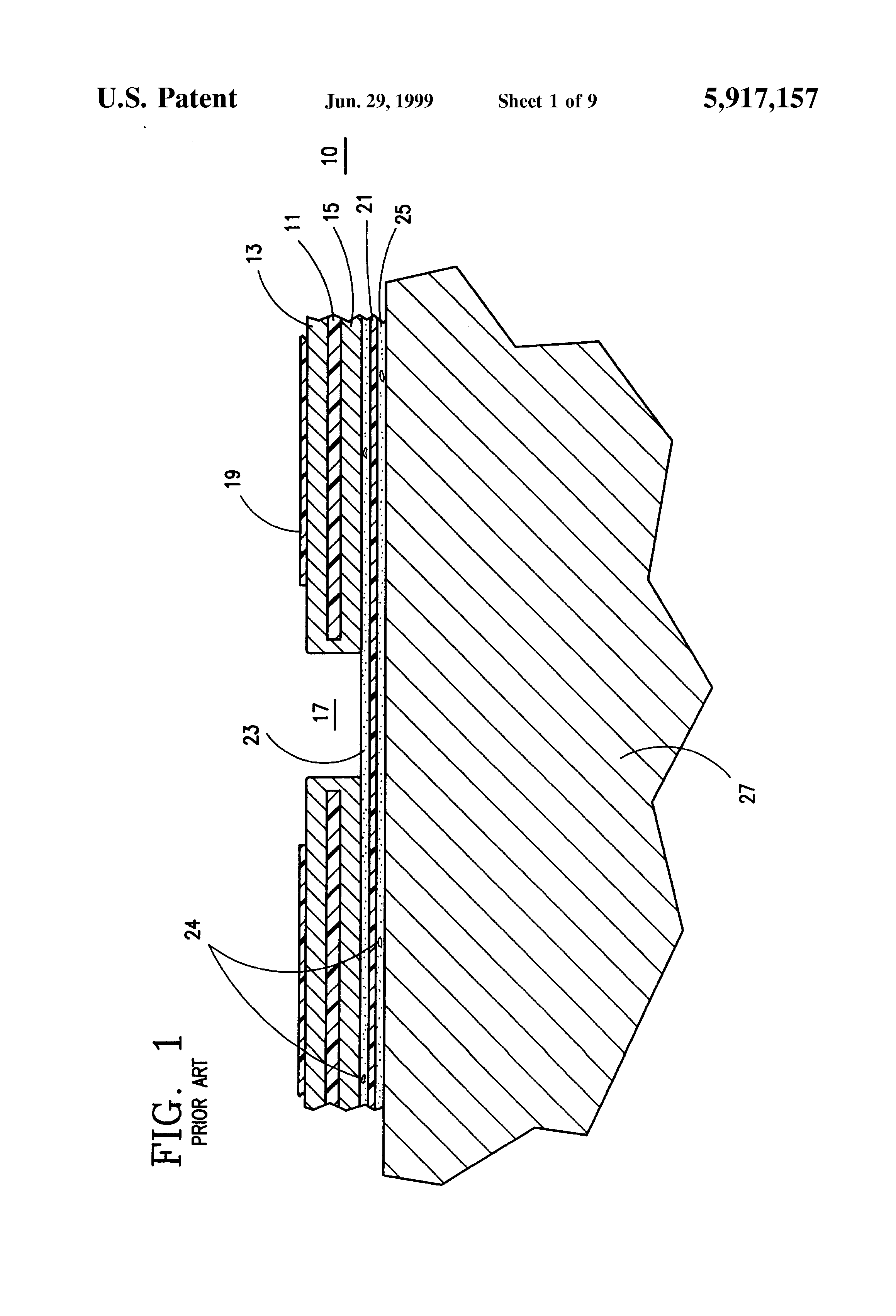 Patent Us5917157 Multilayer Wiring Board Laminate With Enhanced Drawing