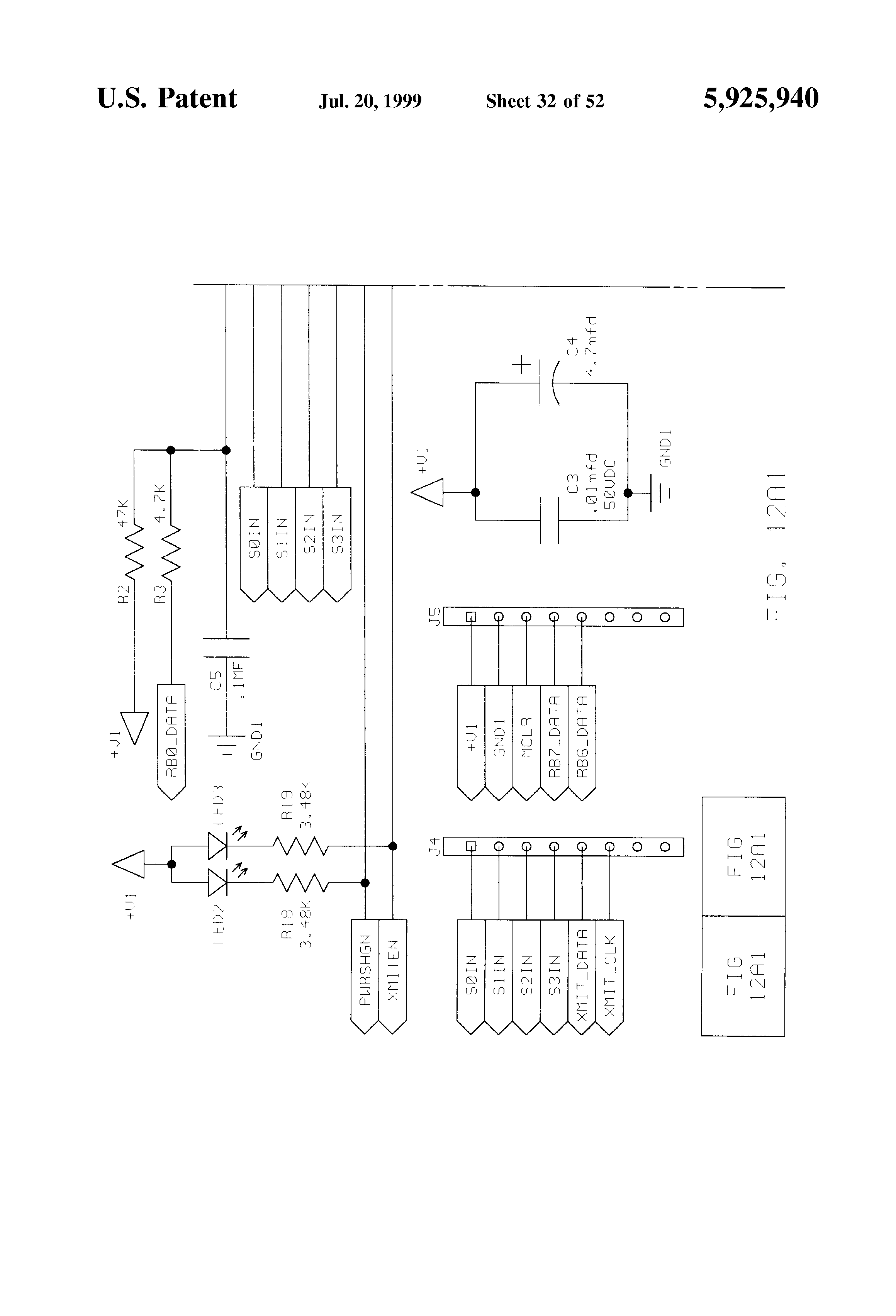 Patent Us5925940 Vehicle Antitheft System Controlling Parking Transmitter Block Diagram For Pal Images Drawing