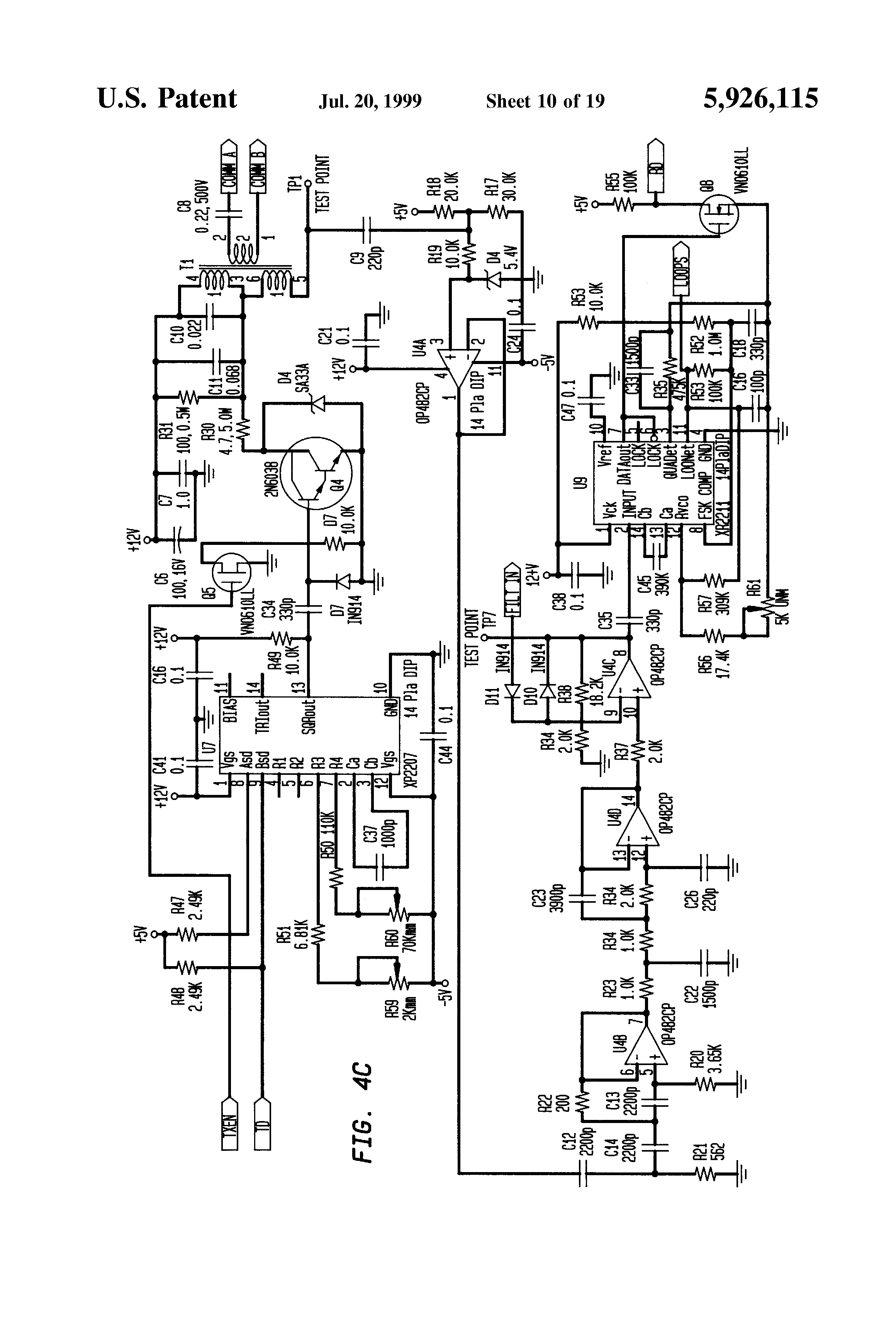 patent us5926115 - airfield series circuit communications lighting system and method