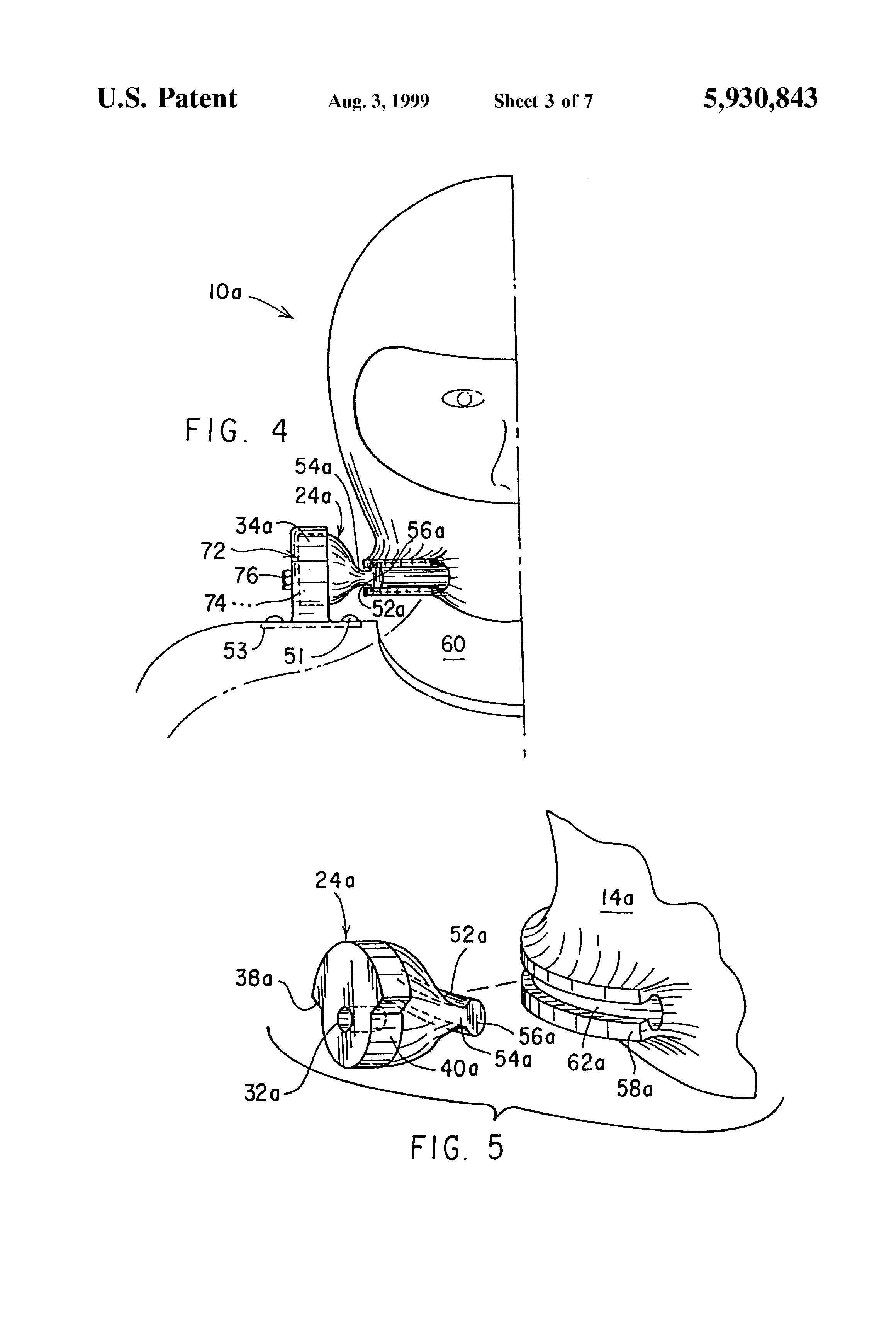 Patent Us5930843 Helmet And Shoulder Harness Assembly