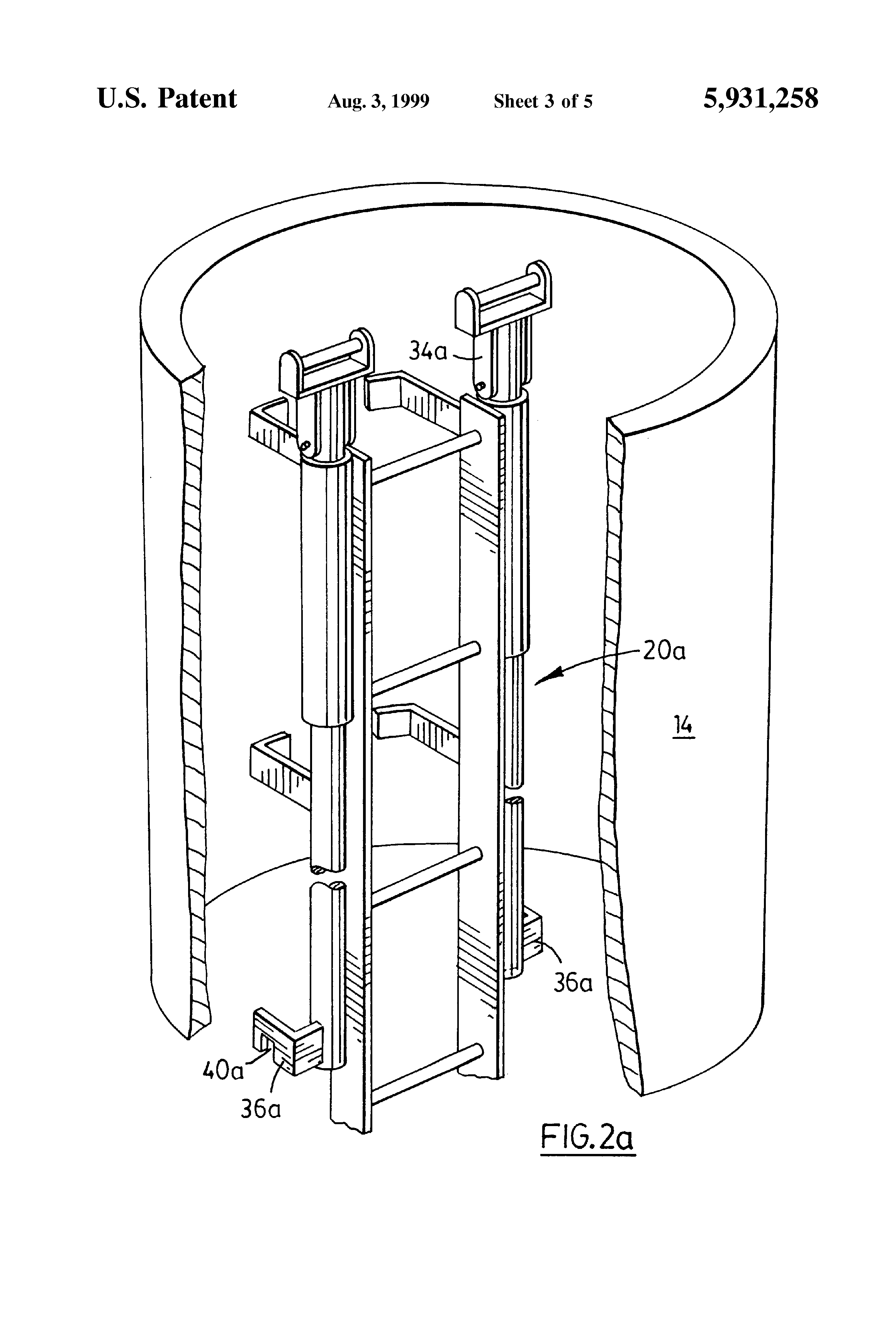 Patent Us5931258 Extendible Safety Posts For Manhole