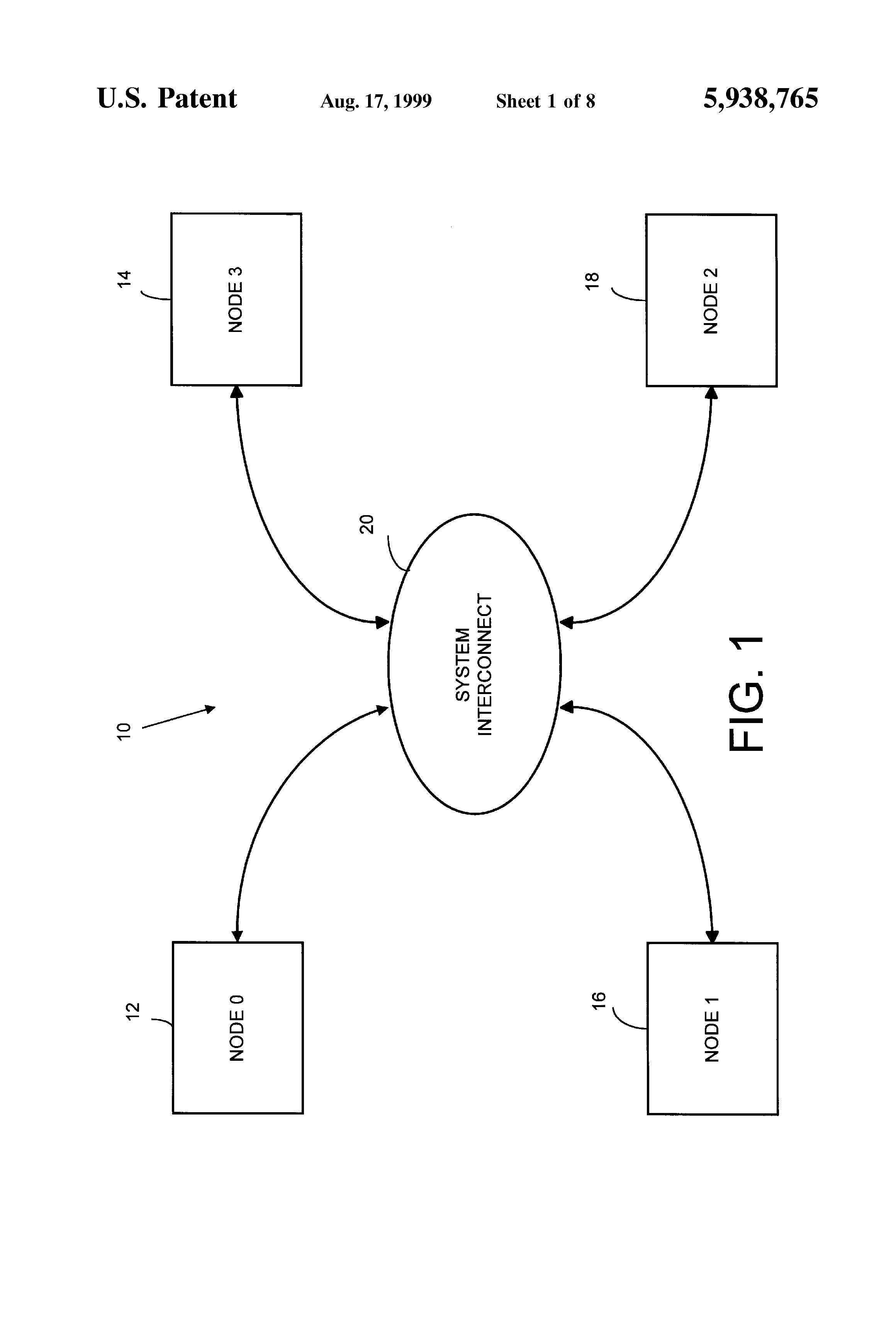 Patent US5938765 - System and method for initializing a multinode