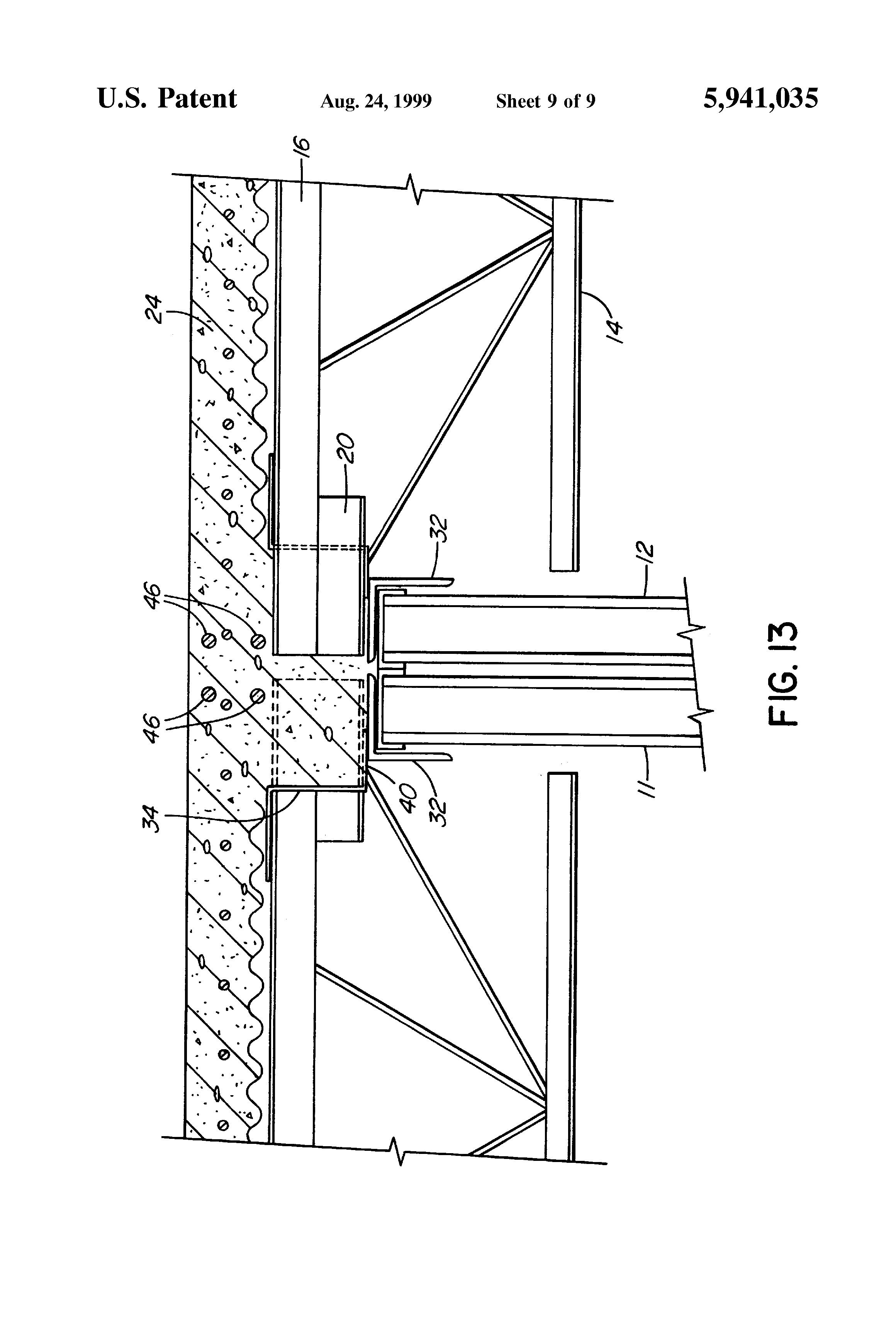 Patent Us5941035 Steel Joist And Concrete Floor System