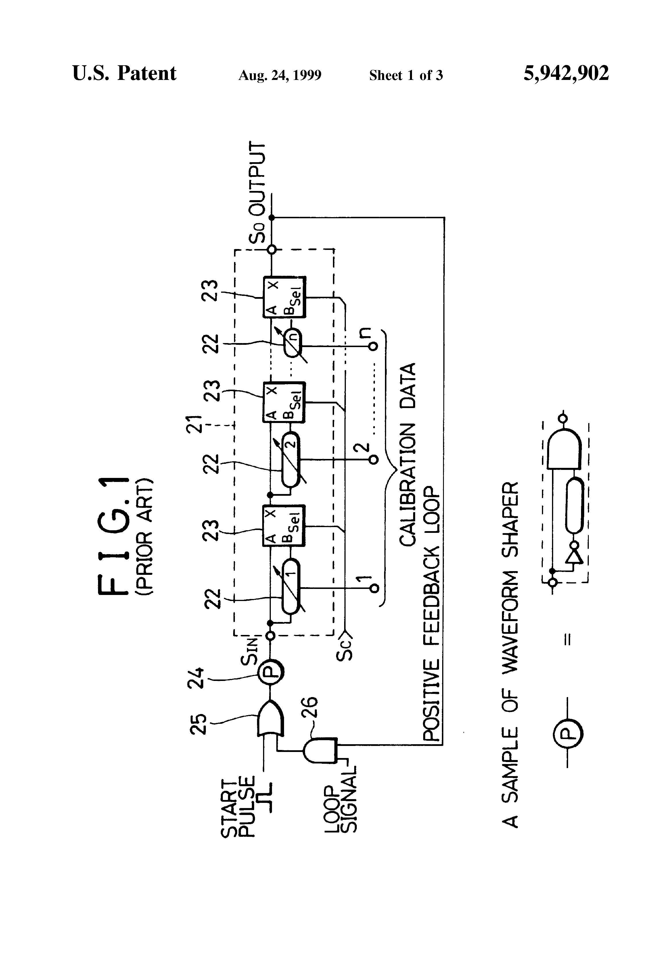 Patent Us5942902 Method Of Measuring Delay Time And Random Pulse Generating Circuit Drawing