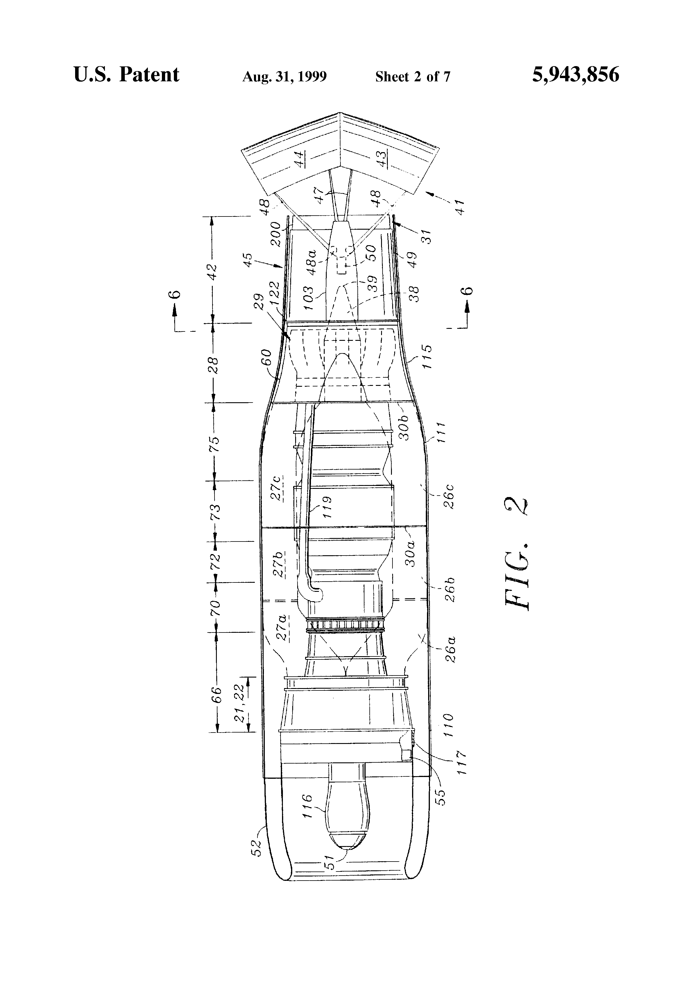 patent us5943856 turbofan engine with reduced noise google patents B-52H Engines patent drawing