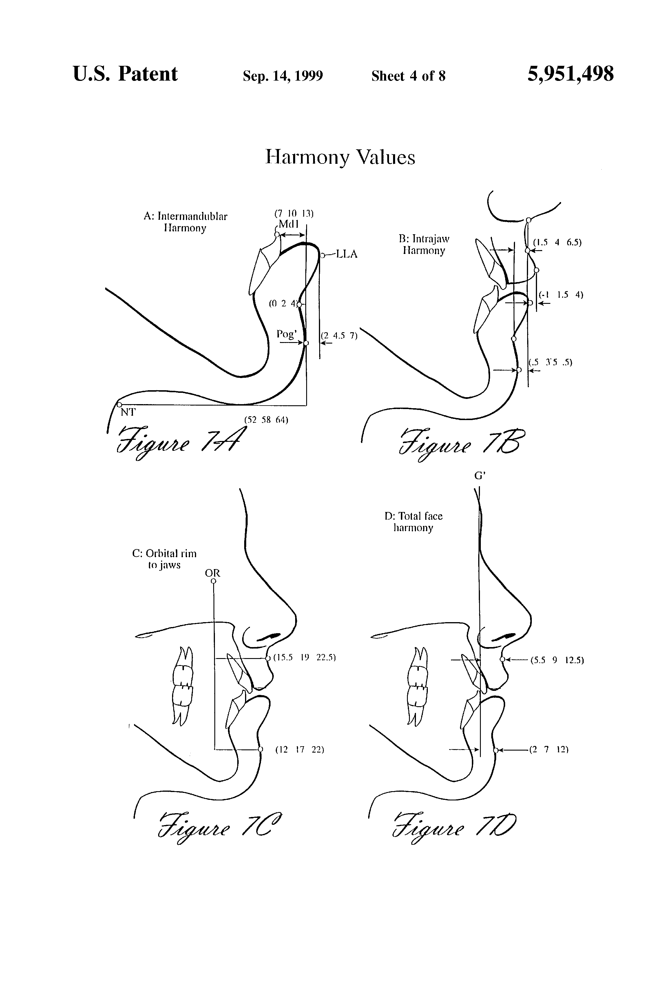 patent us soft tissue cephalometric analysis for patent drawing