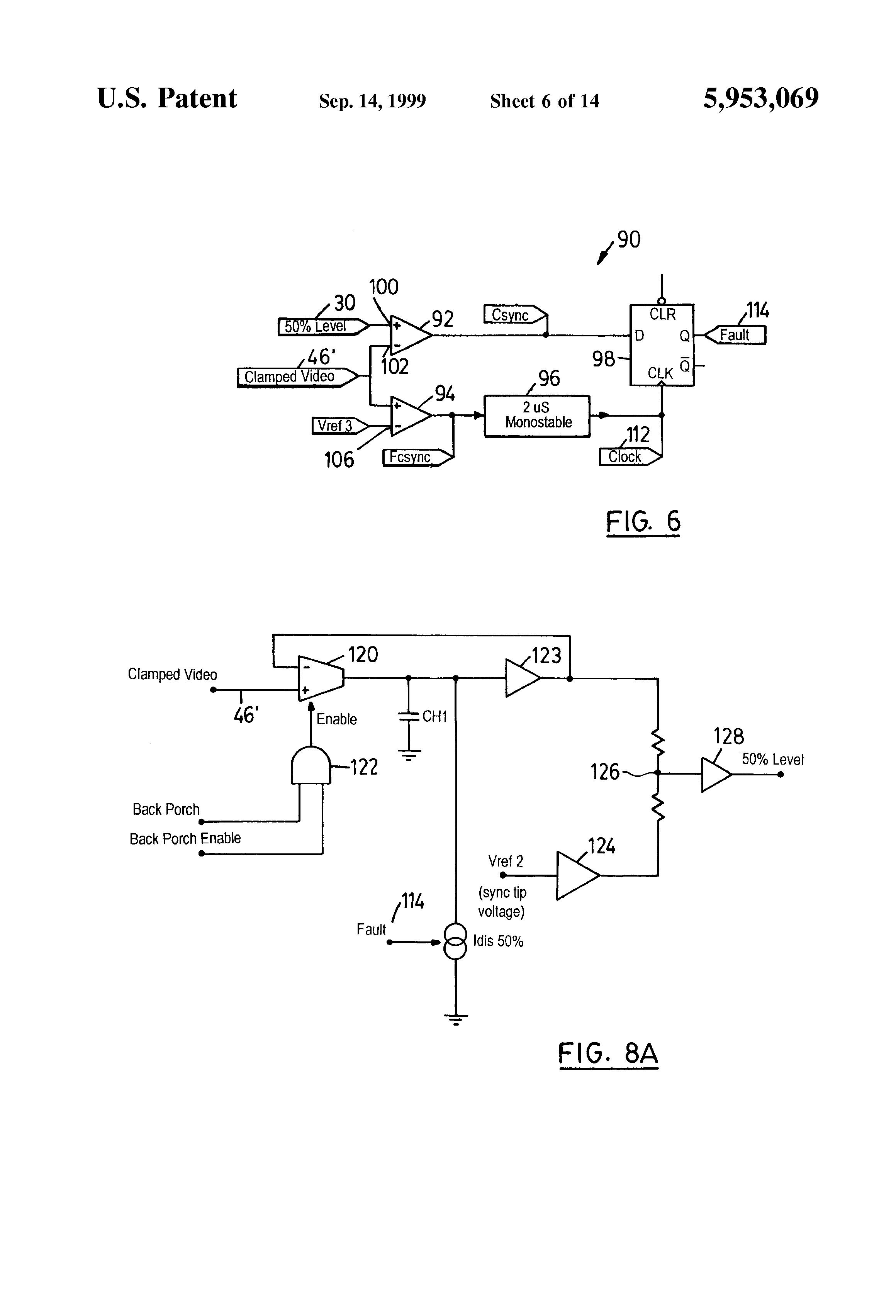 Patent Us5953069 Sync Separator Circuit Google Patents