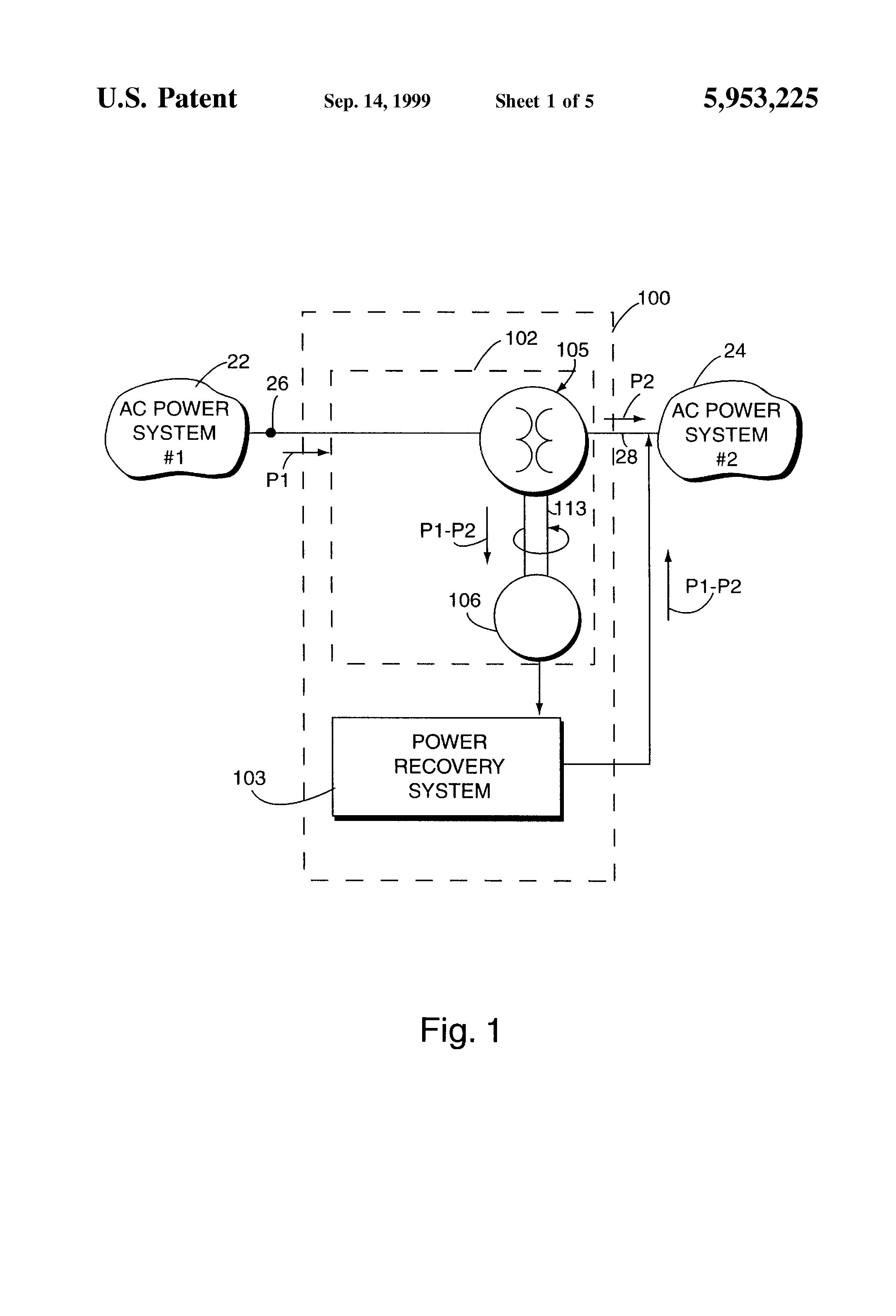 براءة الاختراع US5953225 - Power flow control and power