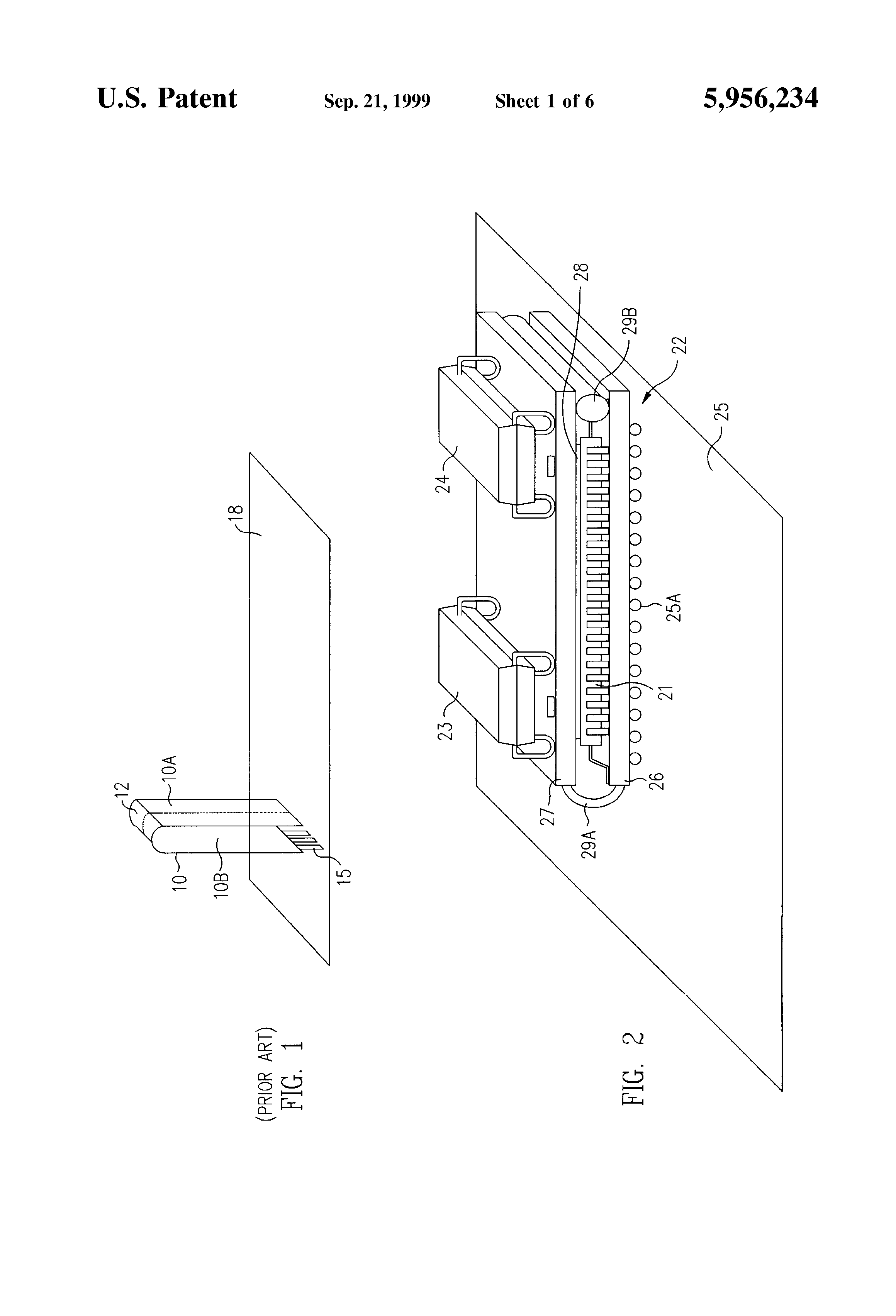 Patente Us5956234 Method And Structure For A Surface Mountable Rigidflex Circuit Boards Are Composed Of Combination Rigid Patent Drawing