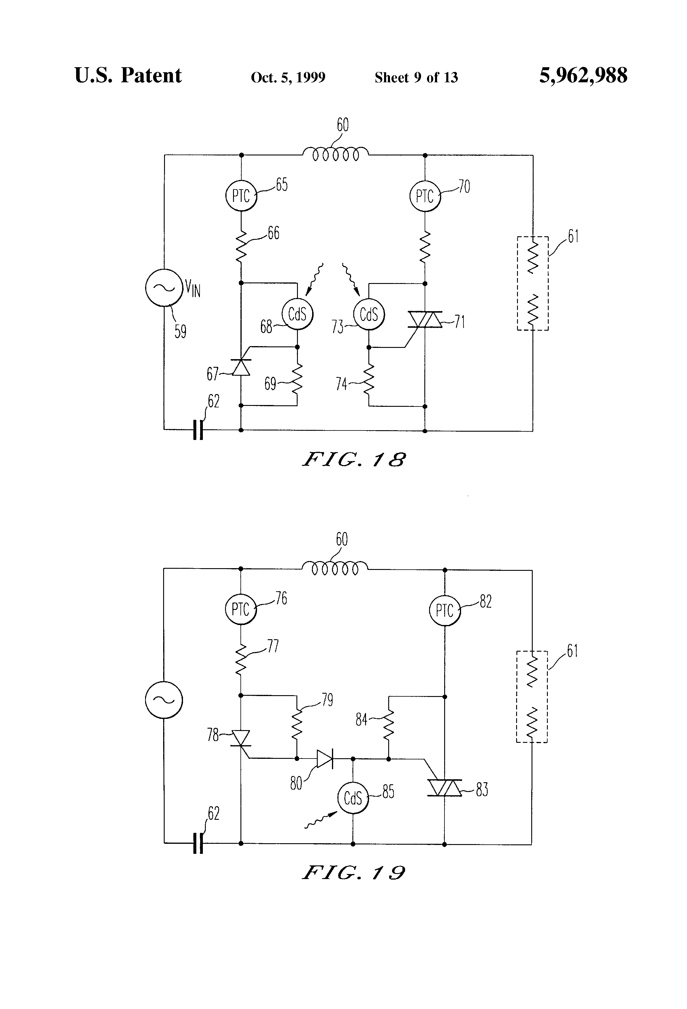 Us5962988 Multi Voltage Ballast And Dimming T96 120 Volt Wiring Diagram Patent Drawing