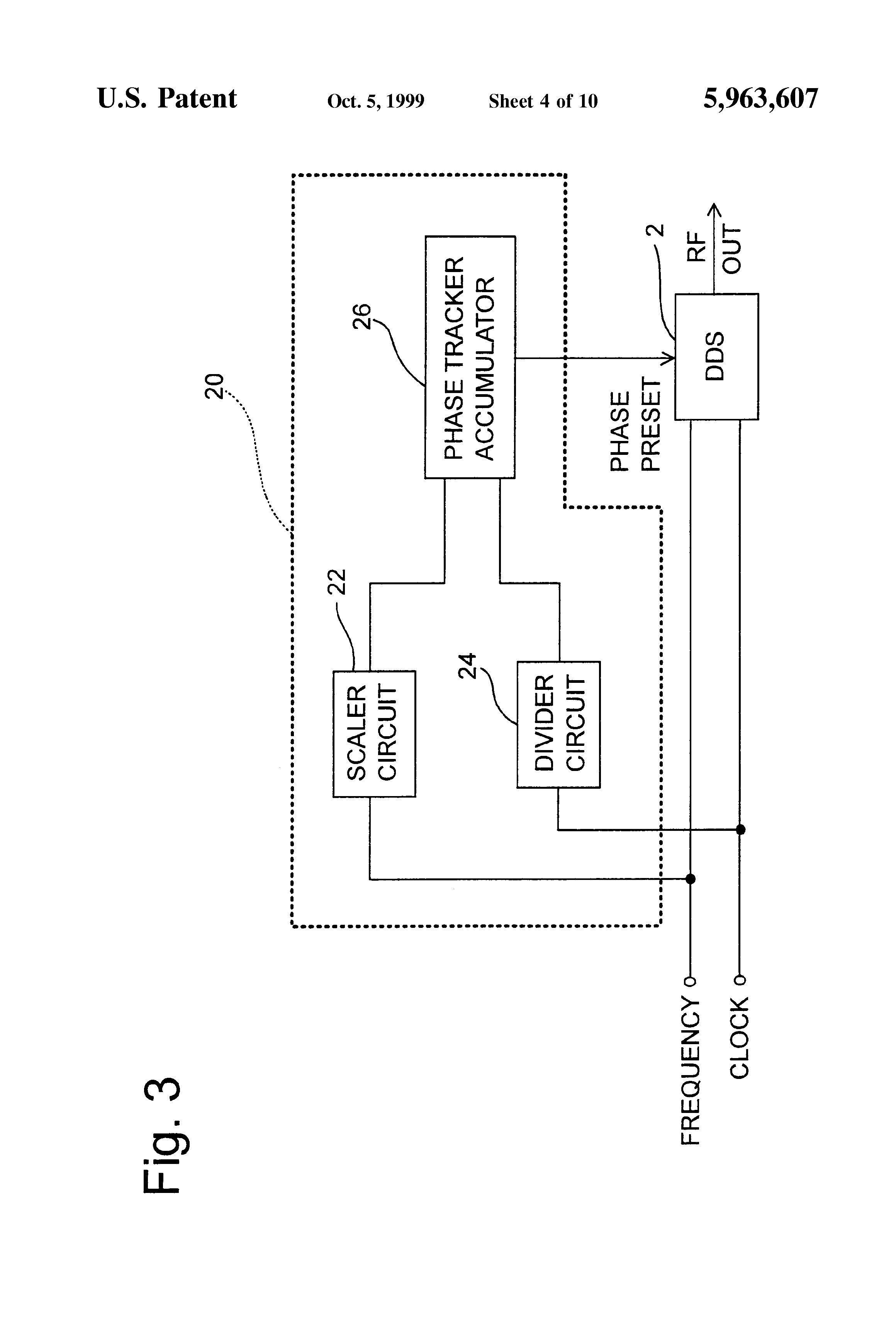 Patent US5963607 - Direct digital synthesizer with high resolution