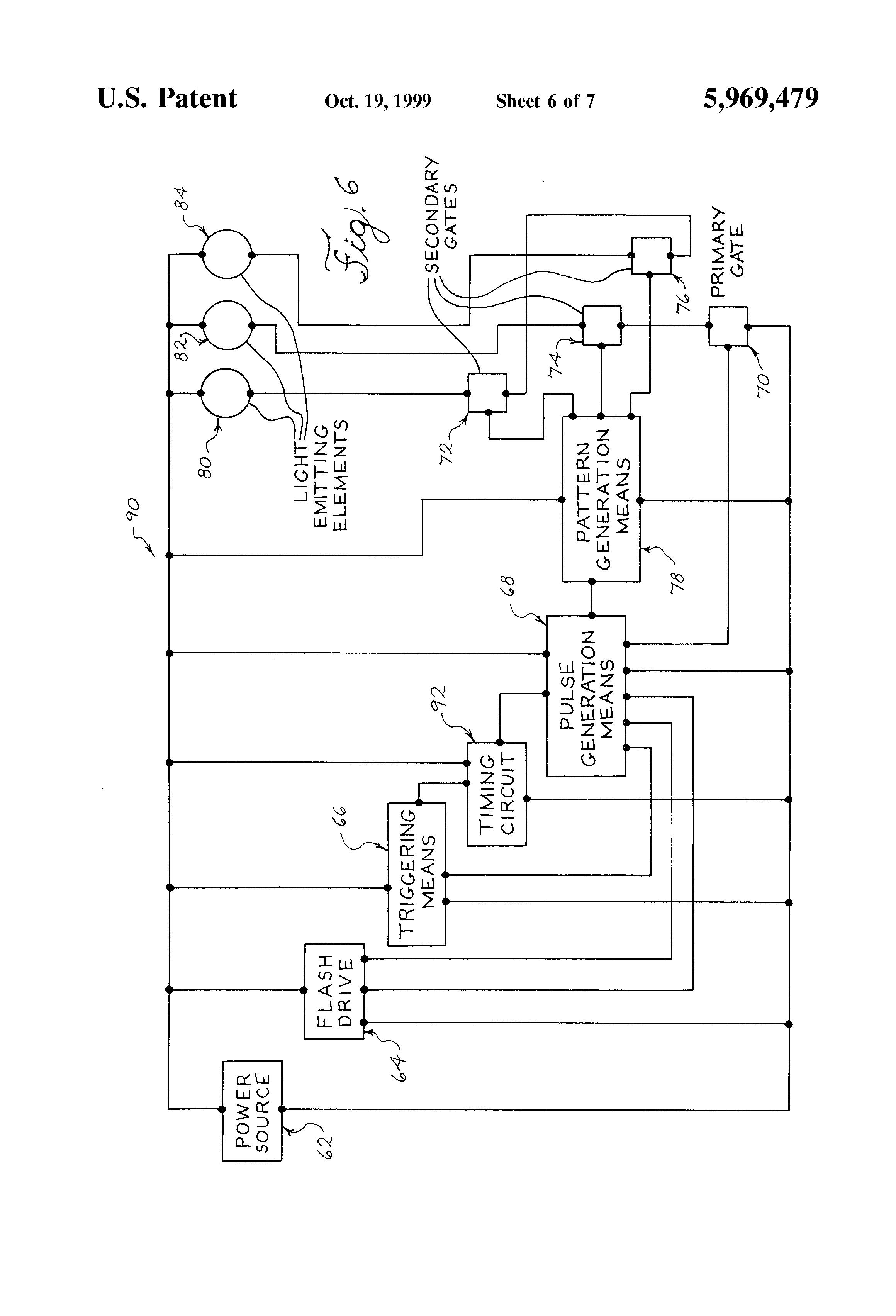 patent us5969479 - light flashing system