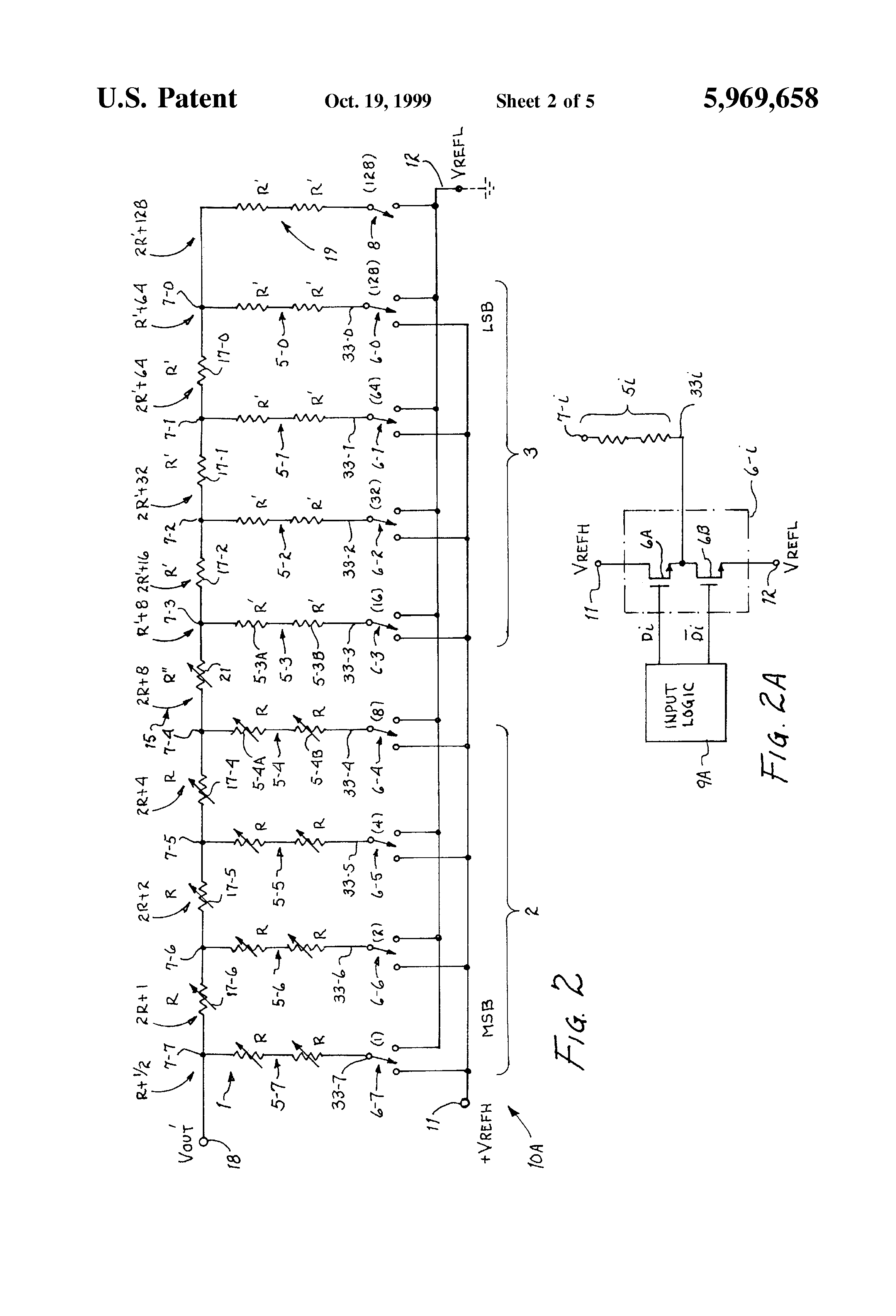 Patent Us5969658 R 2r Ladder Circuit And Method For
