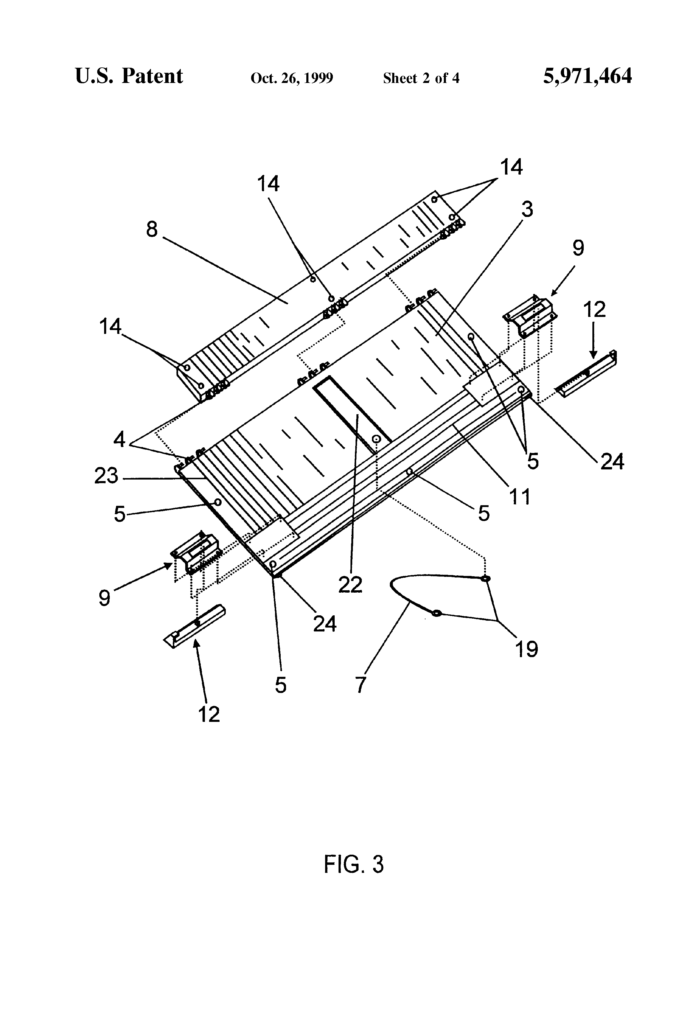 Patent Us5971464 Pick Up Truck Tailgate Liner And Seat Back 2002 Ford Sport Trac Fuse Diagram Drawing