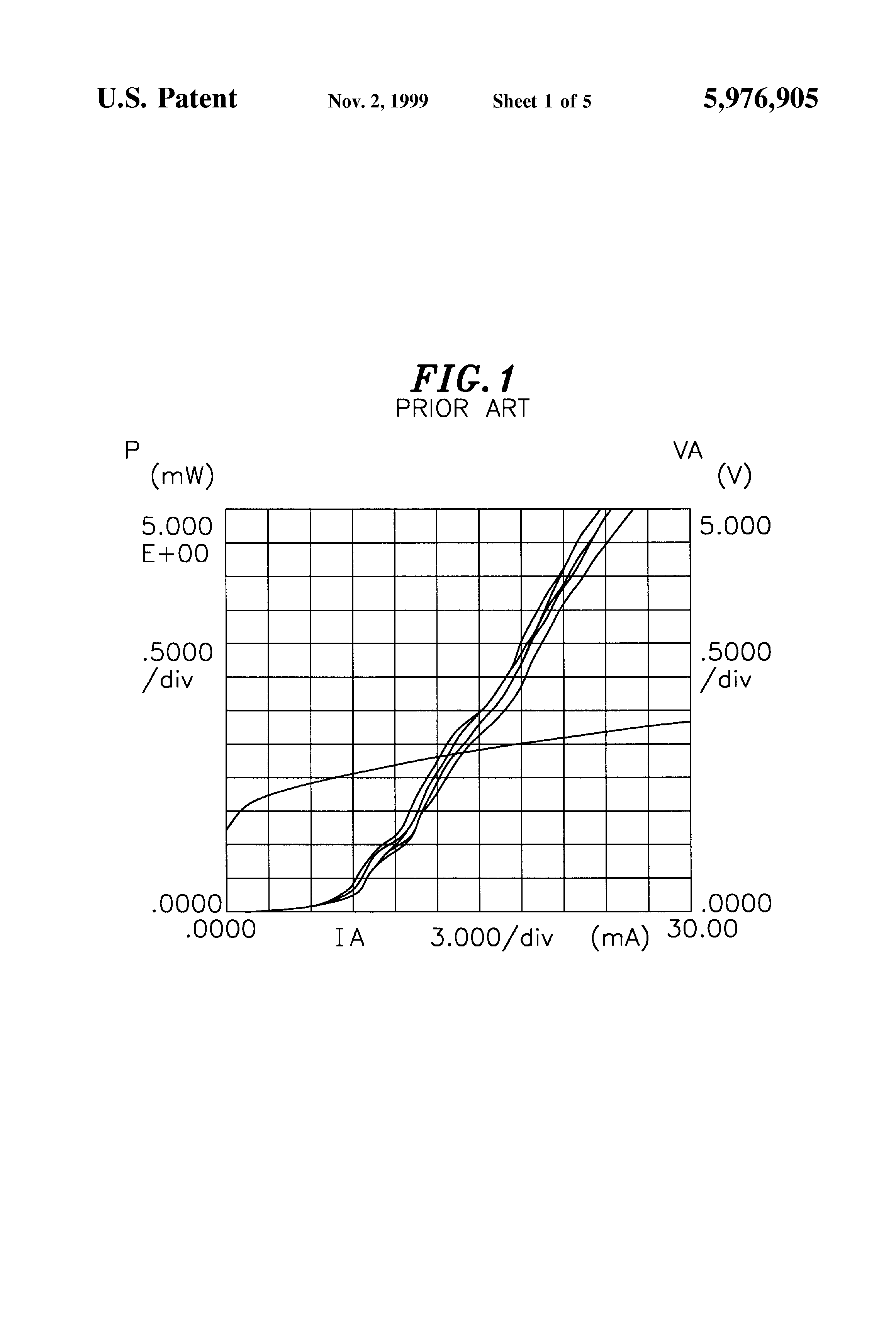 Patent US5976905 - Method of manufacturing VCSEL arrays
