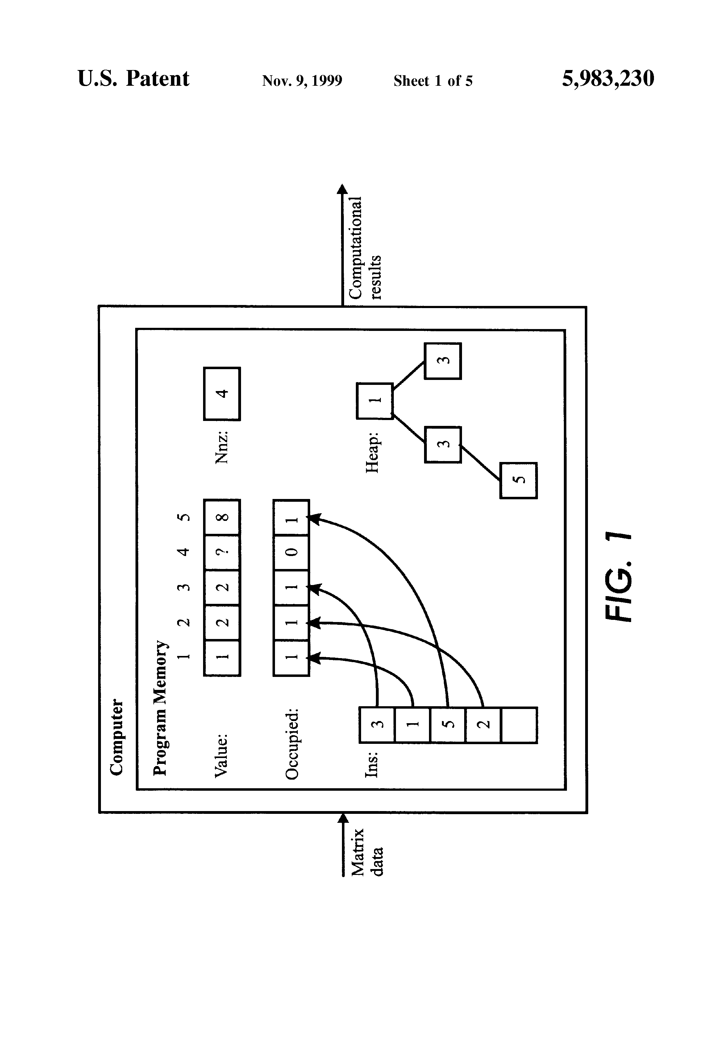 Patent US5983230 - Ordered sparse accumulator and its use in