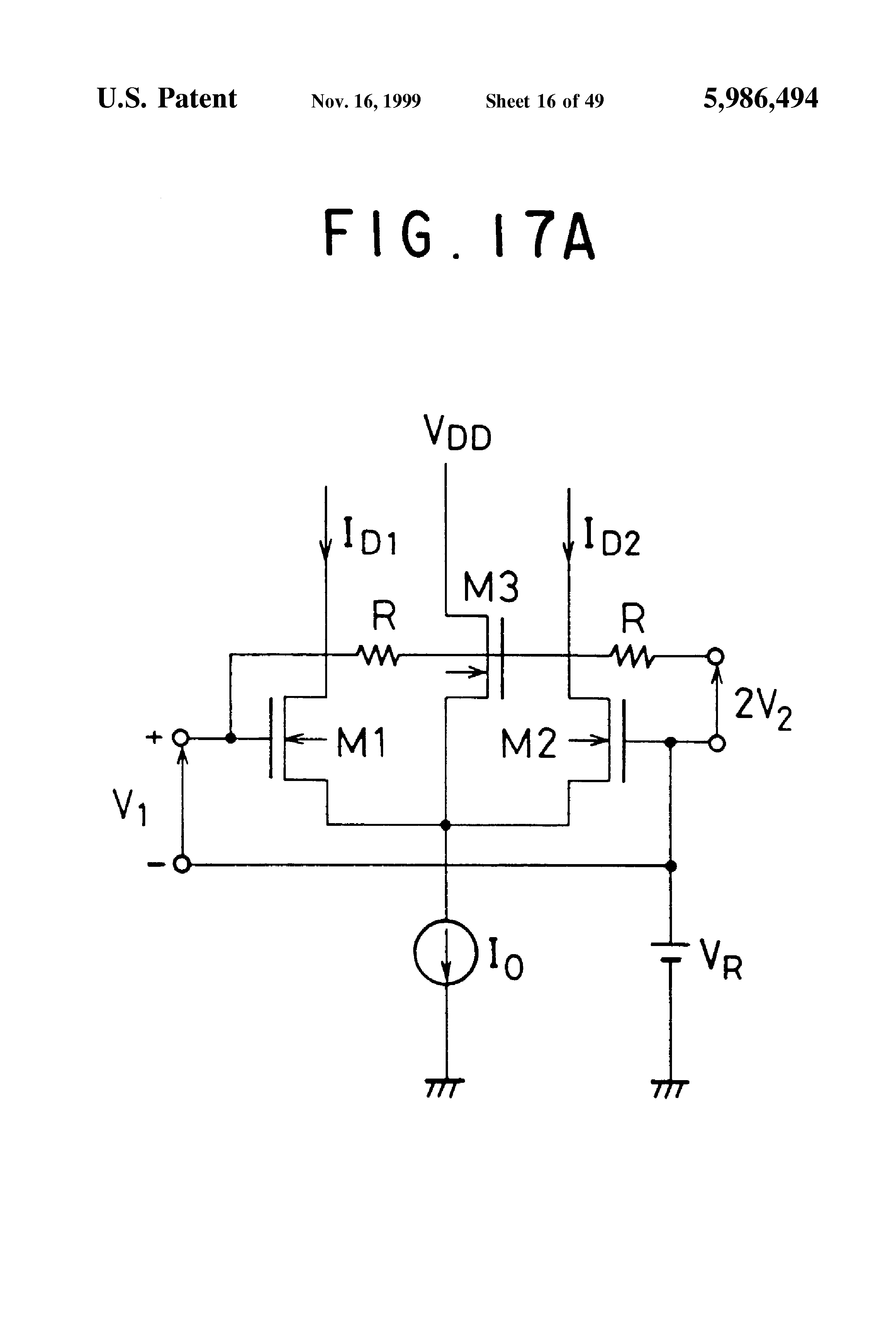 Patent Us5986494 Analog Multiplier Using Multitail Cell Google Fourquadrantanalogmultiplier Amplifiercircuit Circuit Diagram Drawing