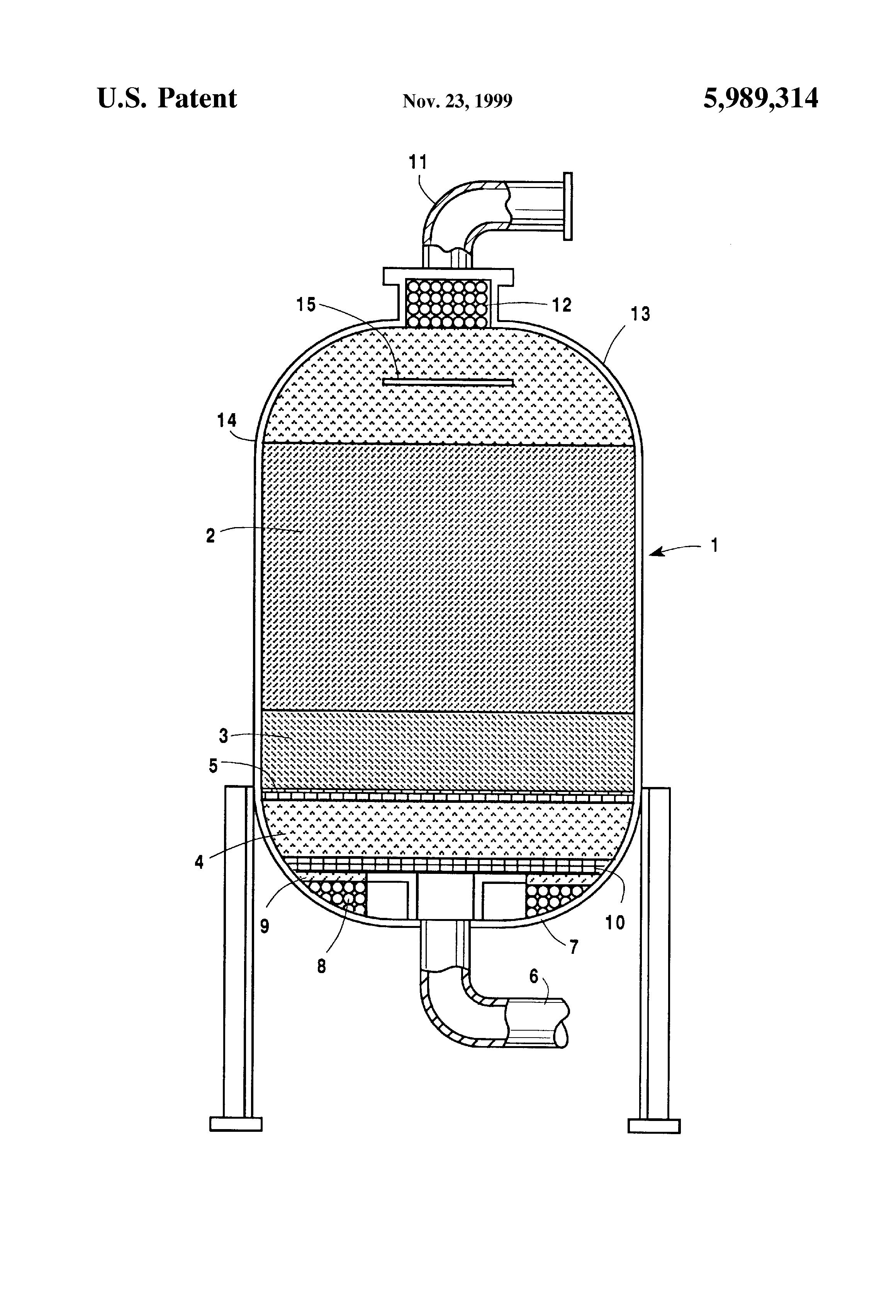 Patent US5989314 - Pressure swing adsorption air prepurifier