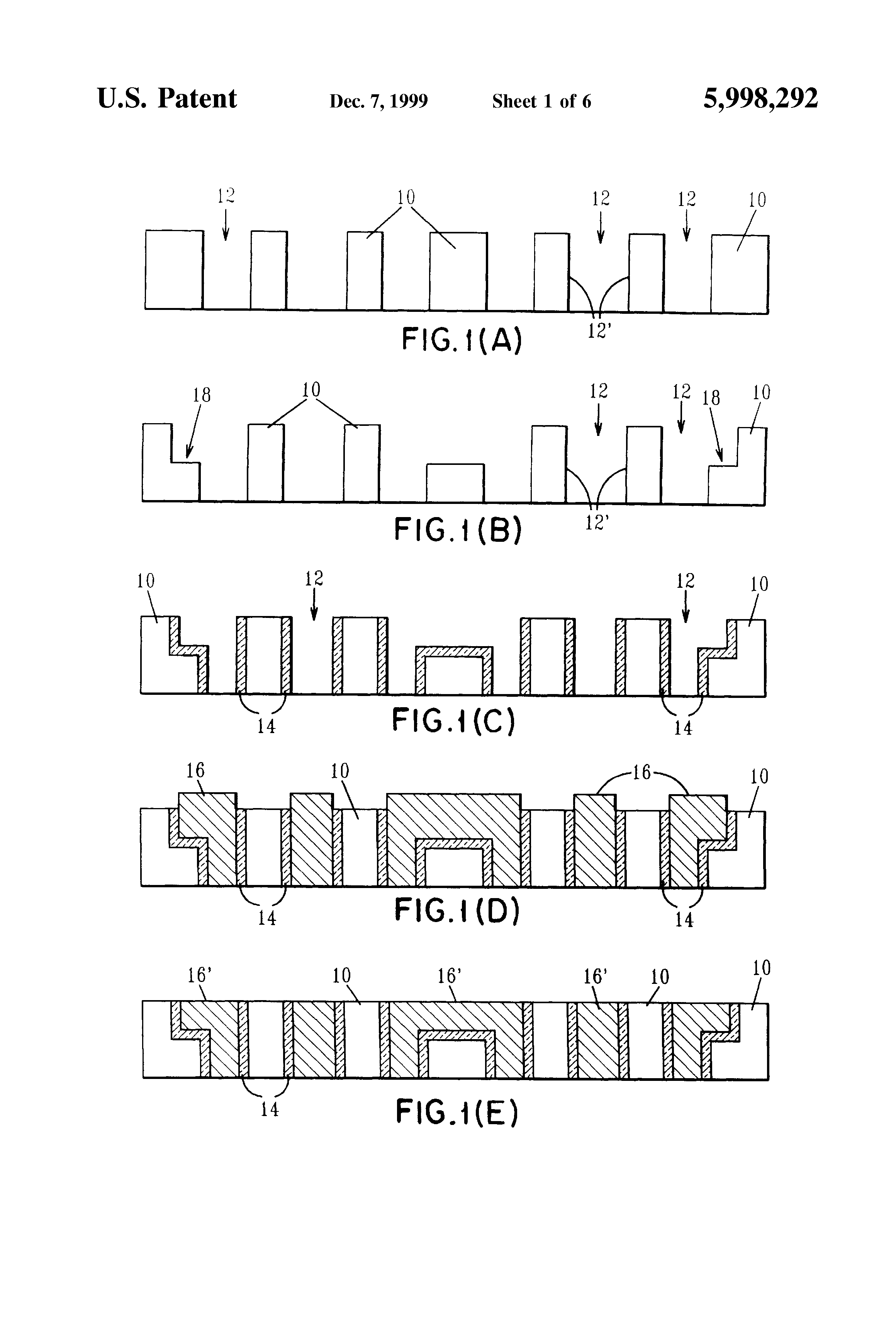 Patent Us5998292 Method For Making Three Dimensional Circuit 292 Y Block Wiring Diagram Drawing