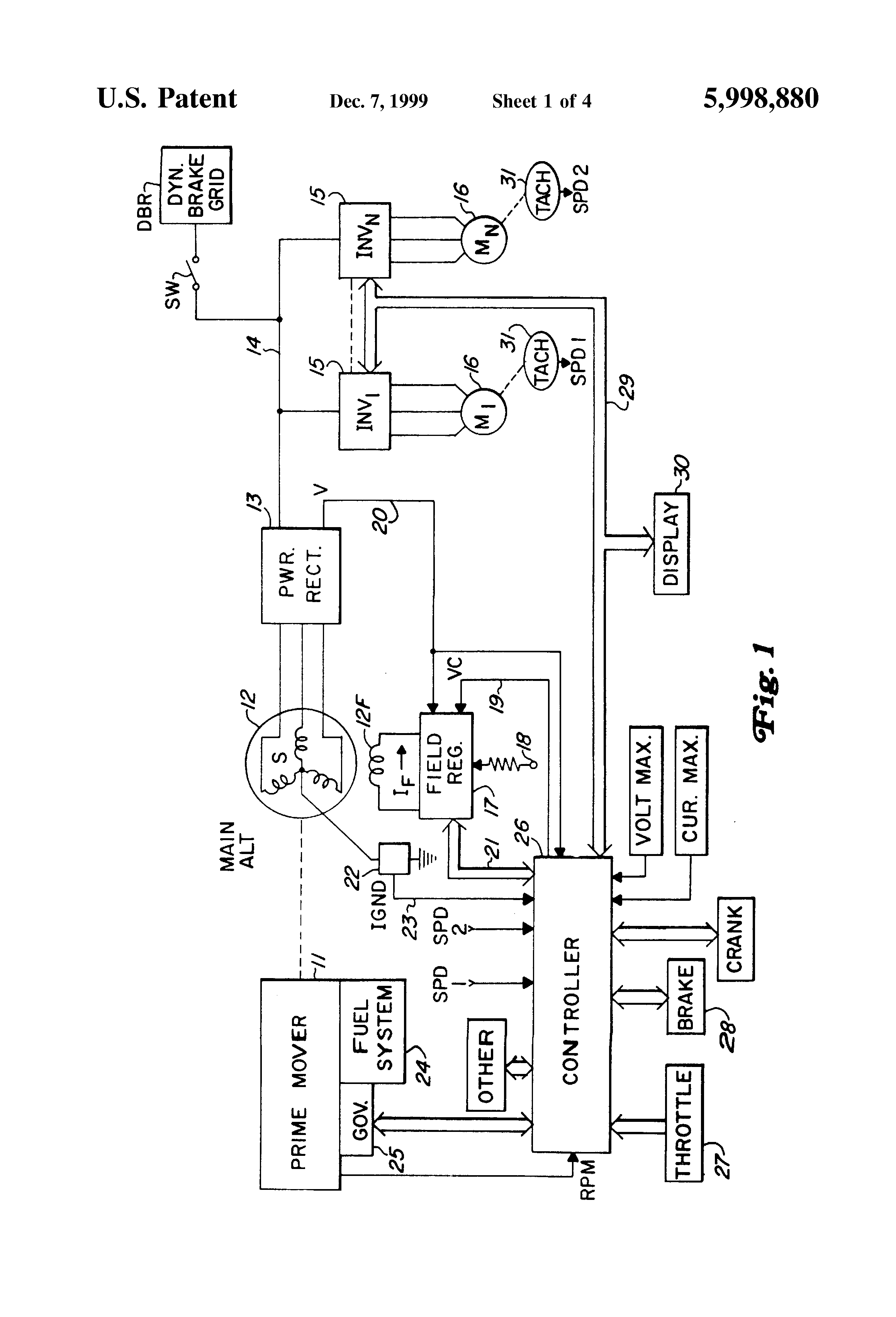 Patent Us5998880 Ac Locomotive Operation Without Dc