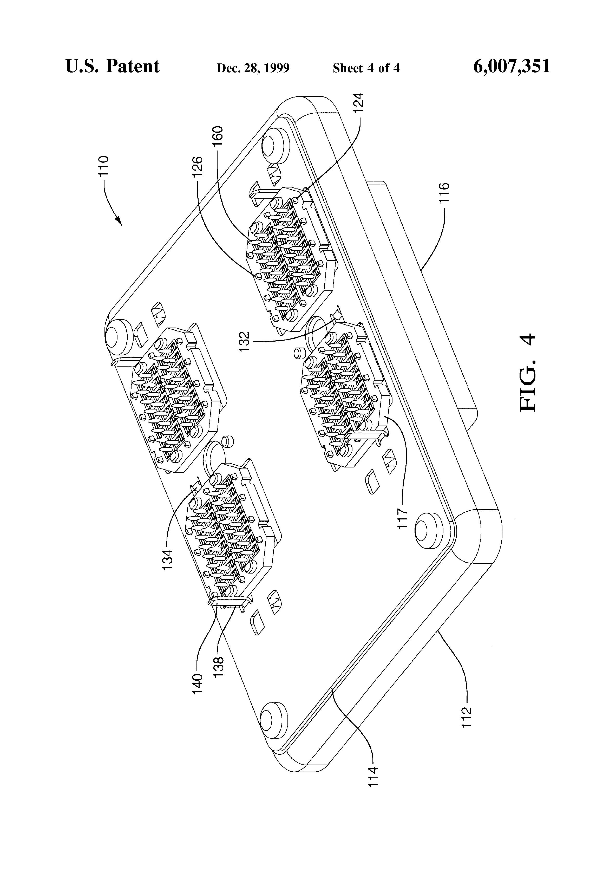 patent us6007351 - bussplate