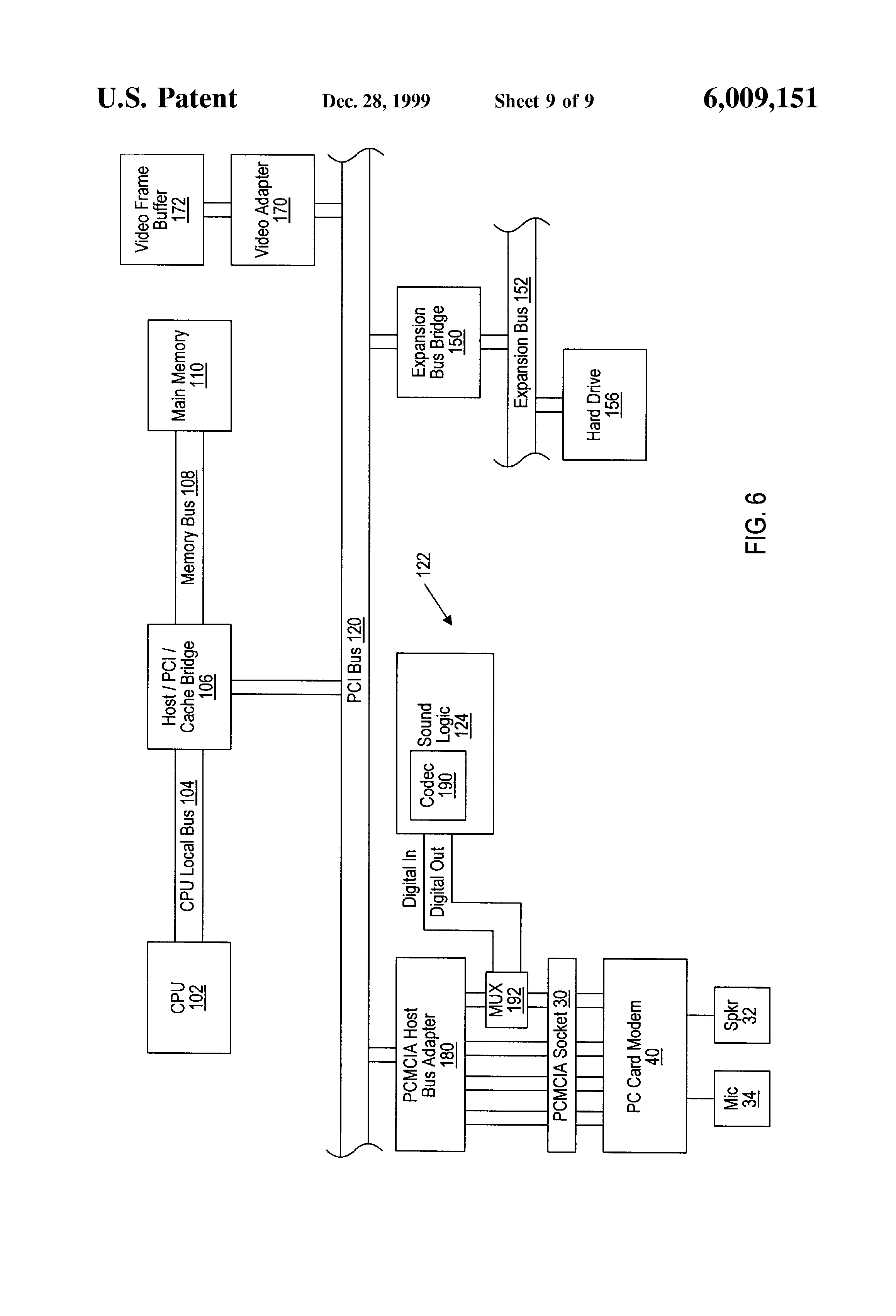 Patent Us6009151 Pc Card Modem With Microphone And Speaker Avaya Wiring Diagram Drawing
