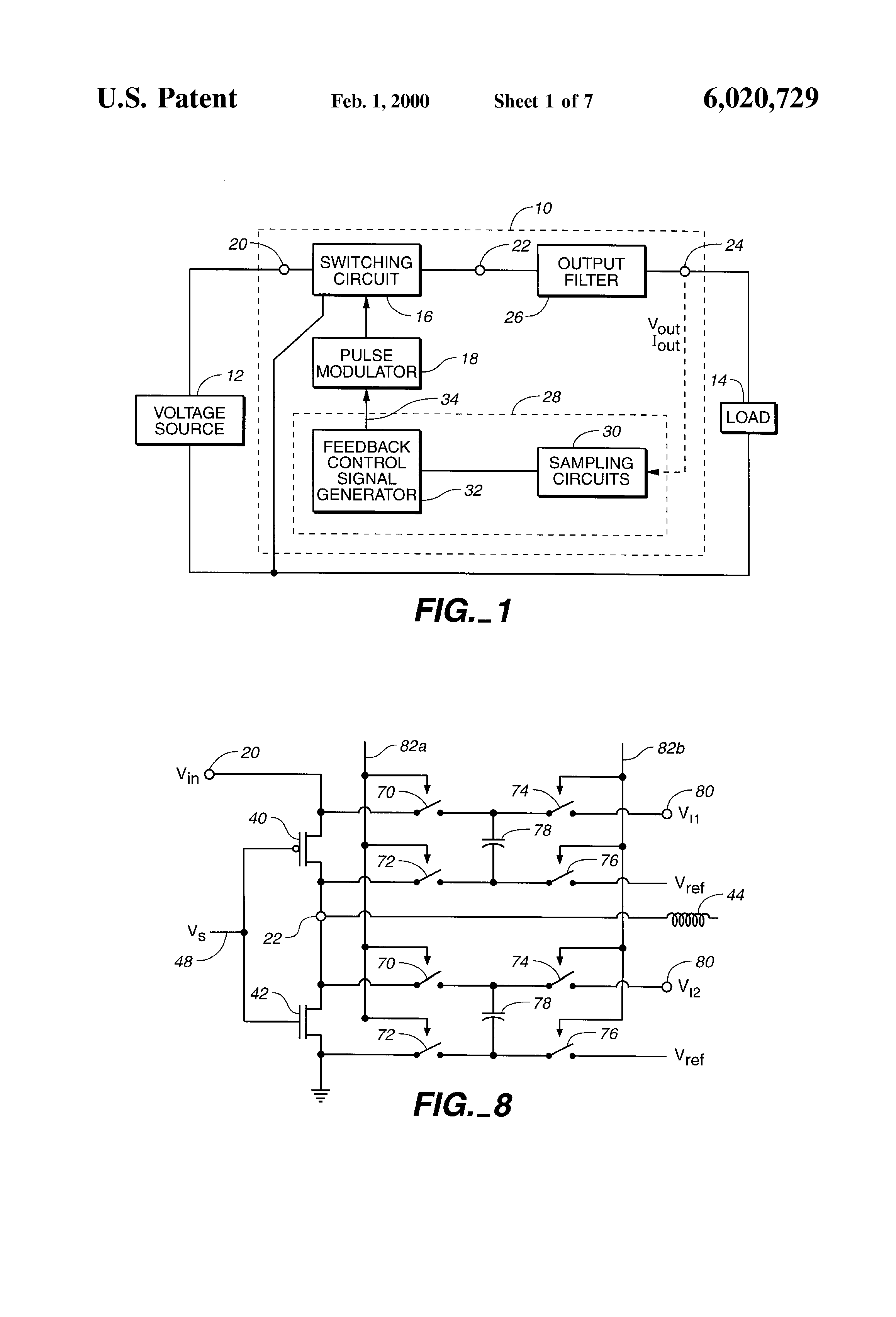 Patente Us6020729 Discrete Time Sampling Of Data For Use In Pwm Generator Circuit Schematic Patent Drawing