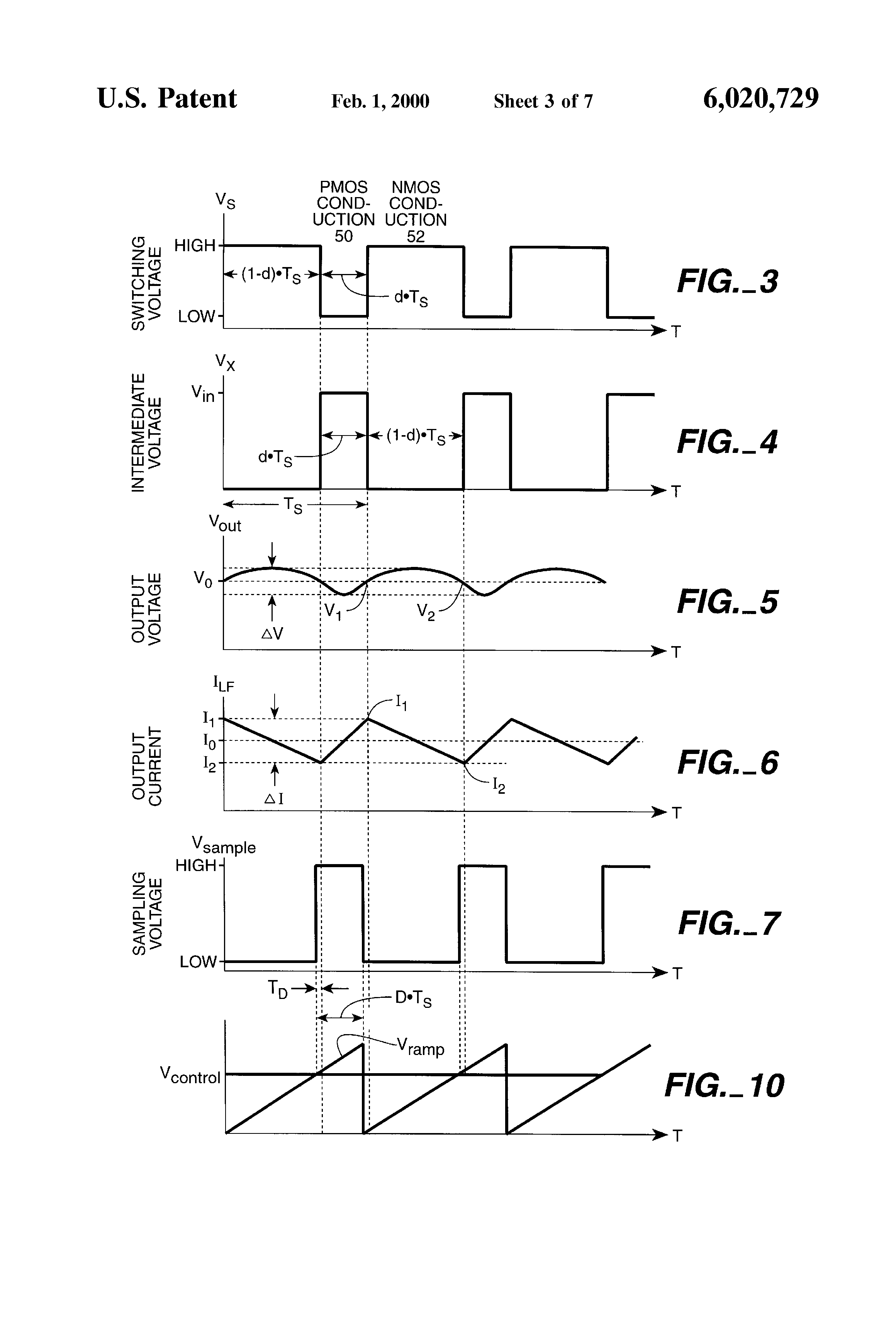 Patent Us6020729 Discrete Time Sampling Of Data For Use In Voltage Regulator Drawing
