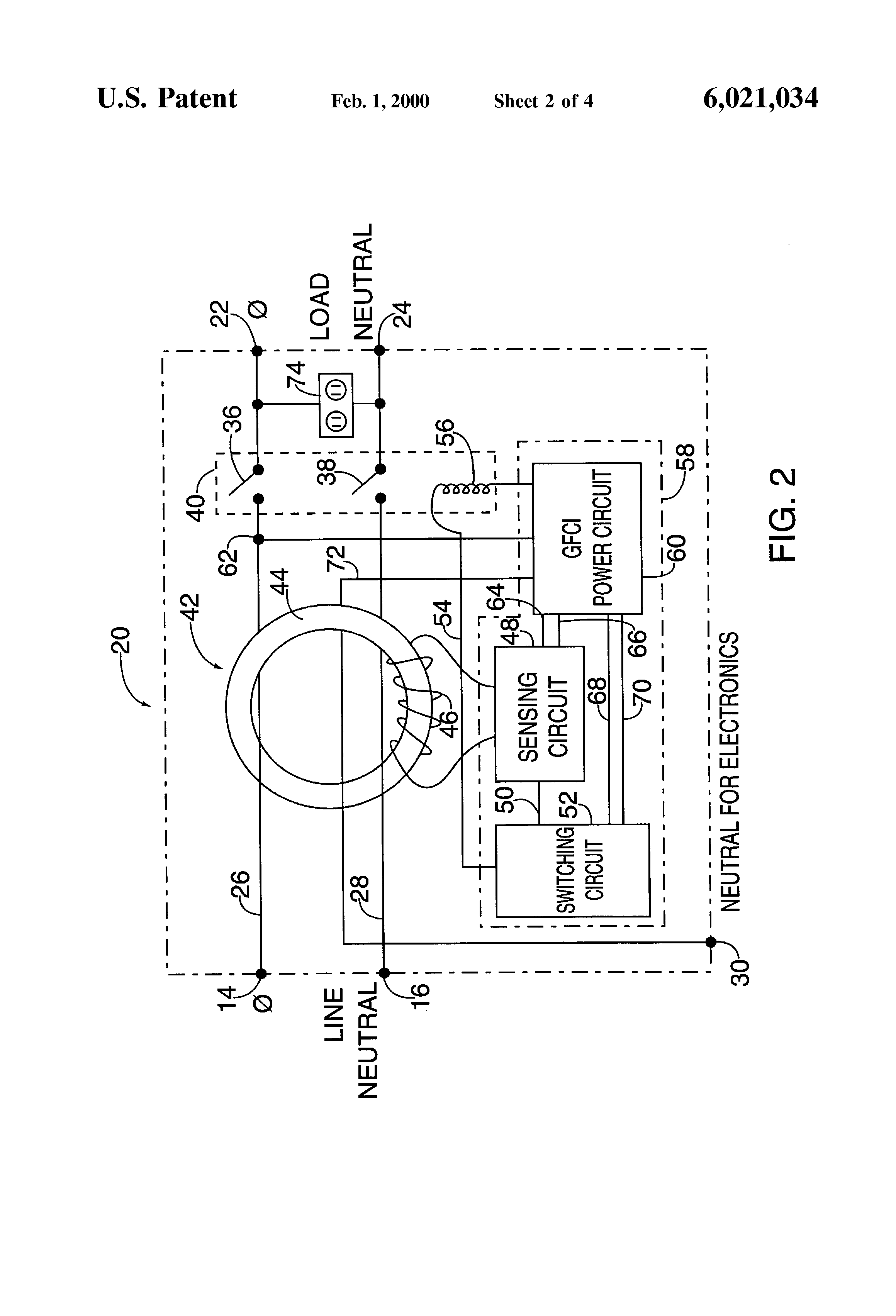 patent us6021034 ground fault protection circuit for multiple rh google com na
