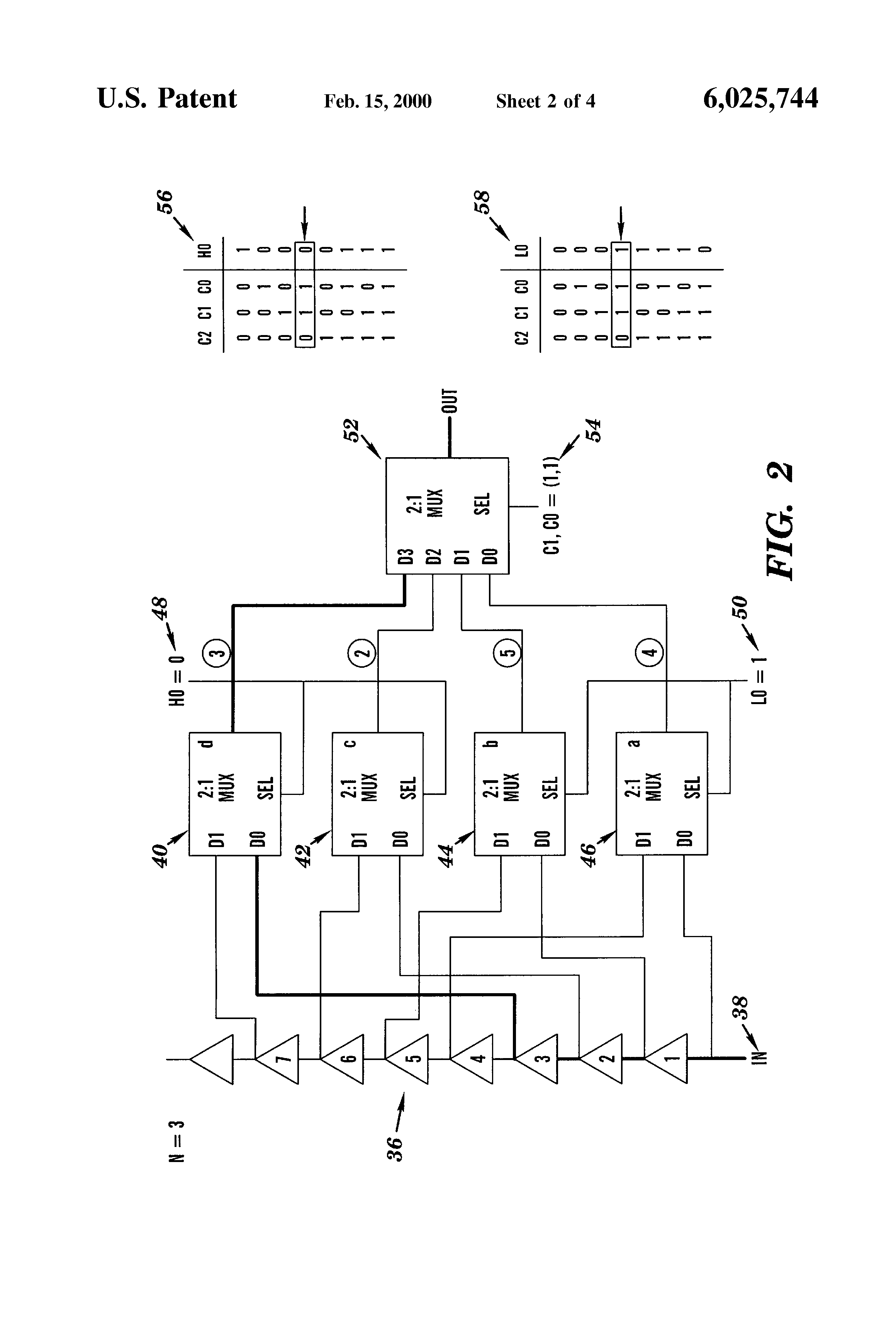 Patent Us6025744 Glitch Free Delay Line Multiplexing Technique 2 1 Mux Logic Diagram Drawing