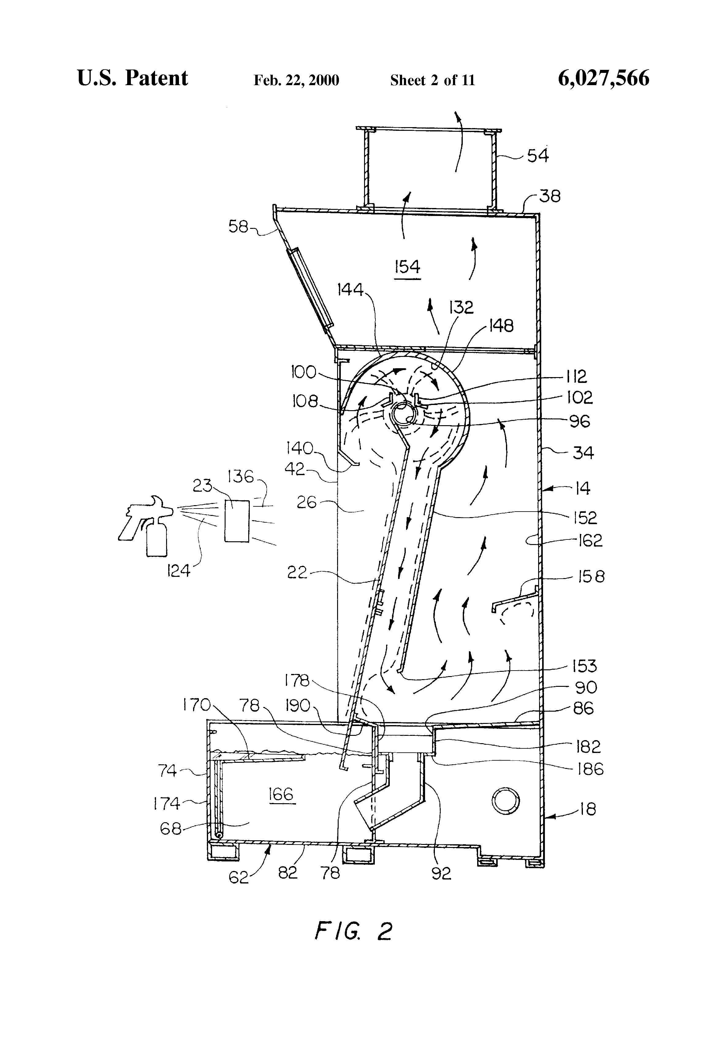 Patent Us6027566 Paint Spray Booth Google Patents