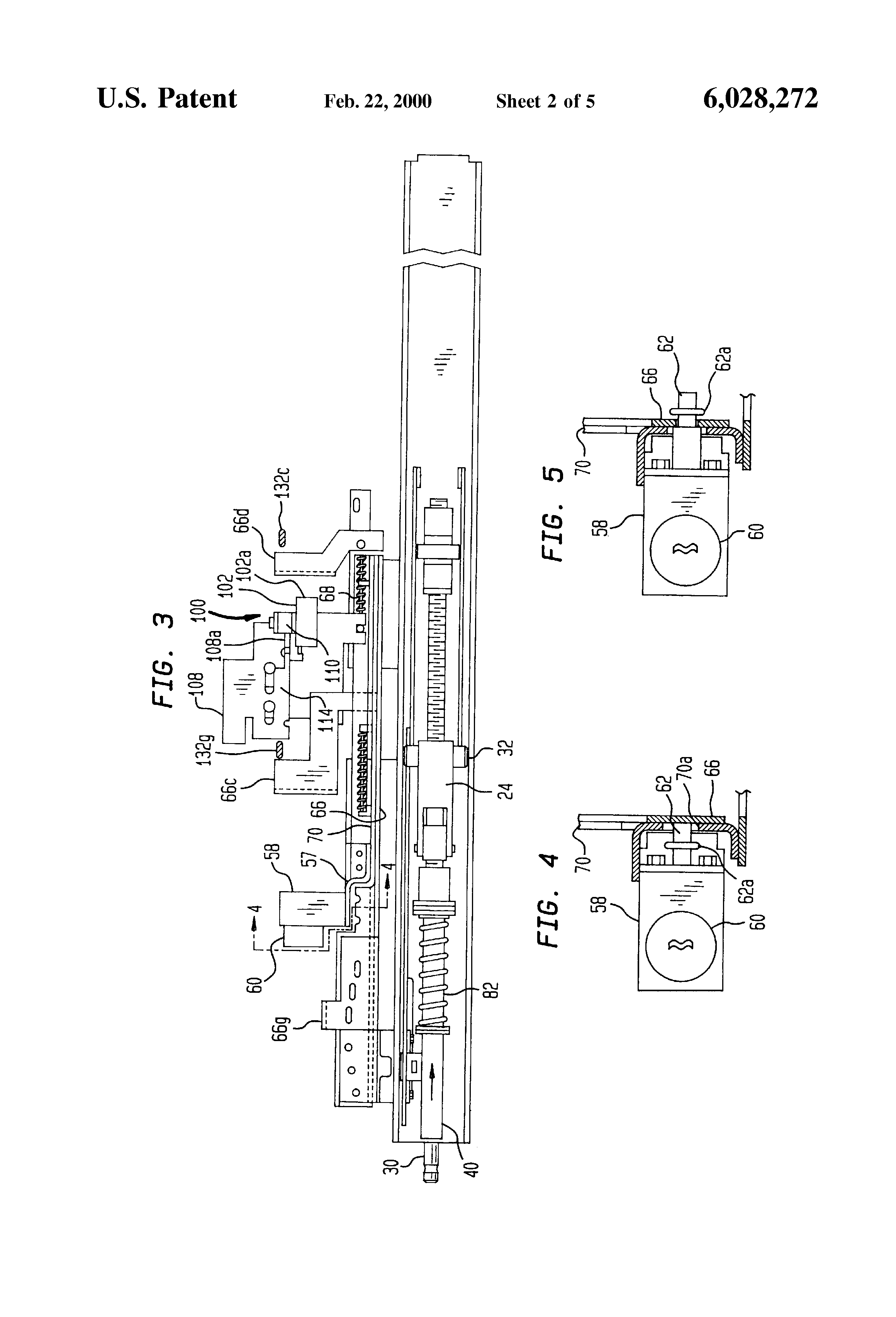 patent us6028272 - lockable position interlock for rackable circuit breakers