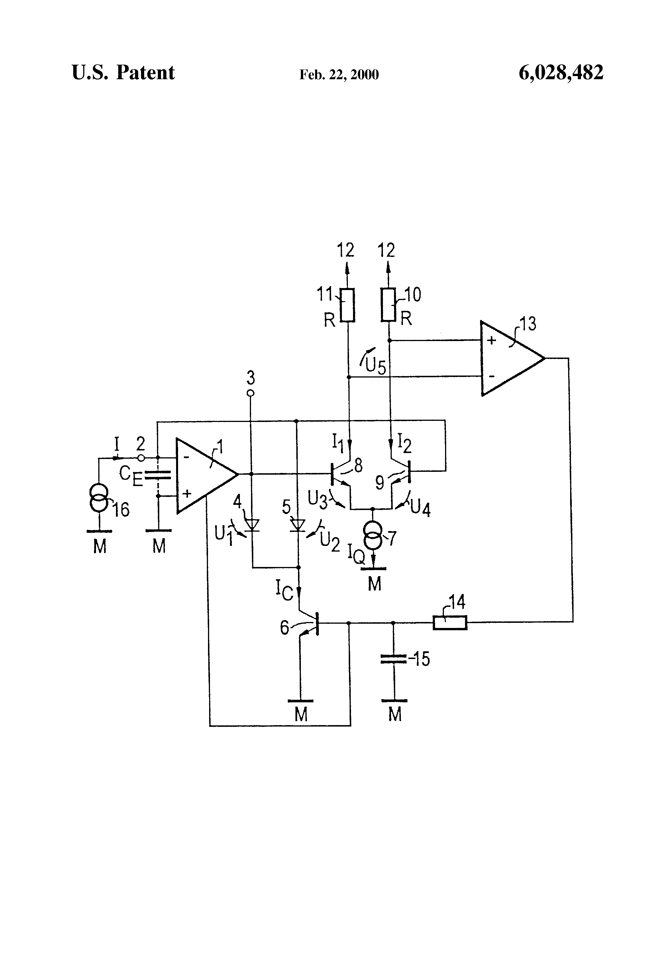 Patent Us6028482 Wide Dynamic Range Transimpedance Amplifier The Circuit Drawing