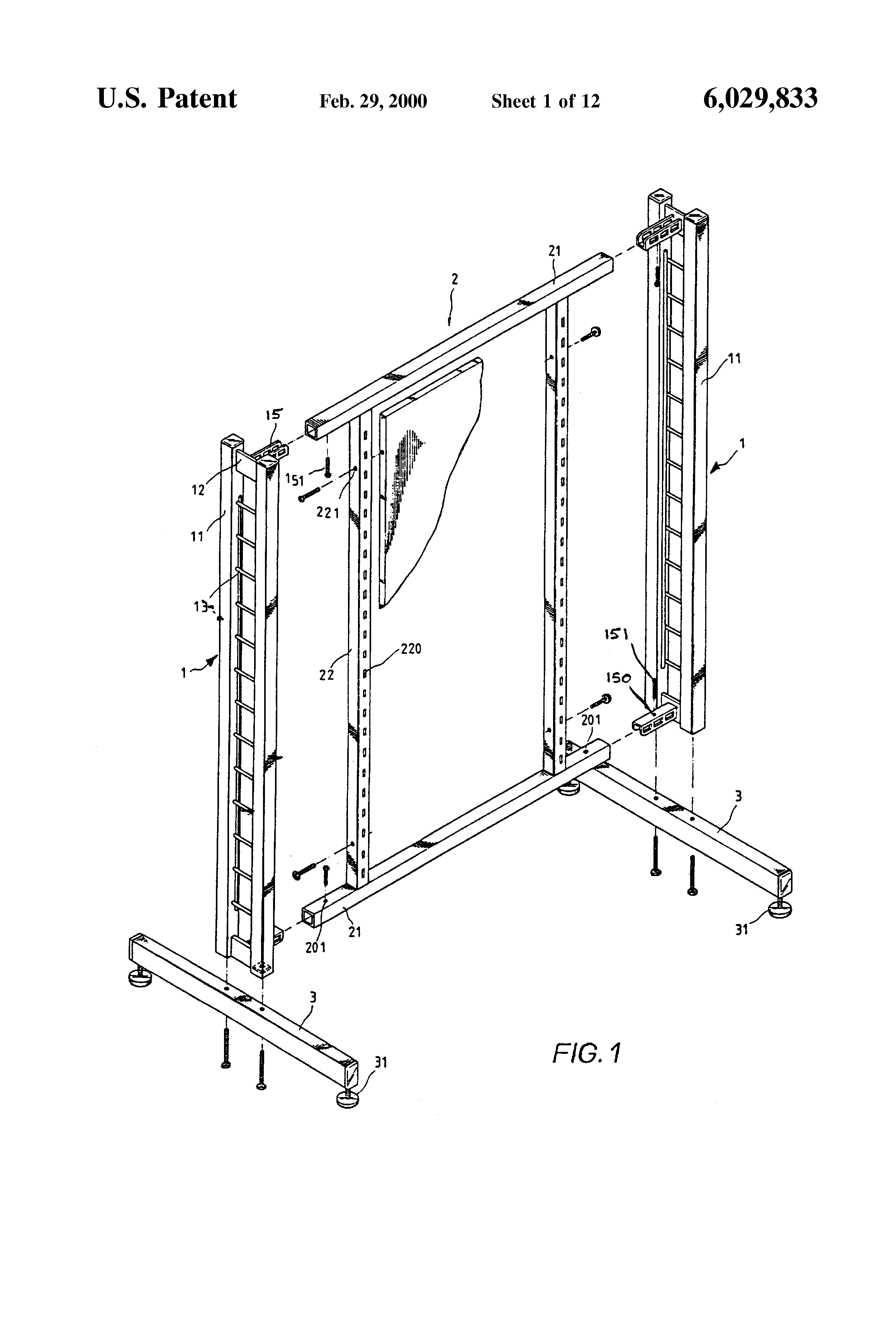 Patent US6029833 - Clothes display rack - Google Patents