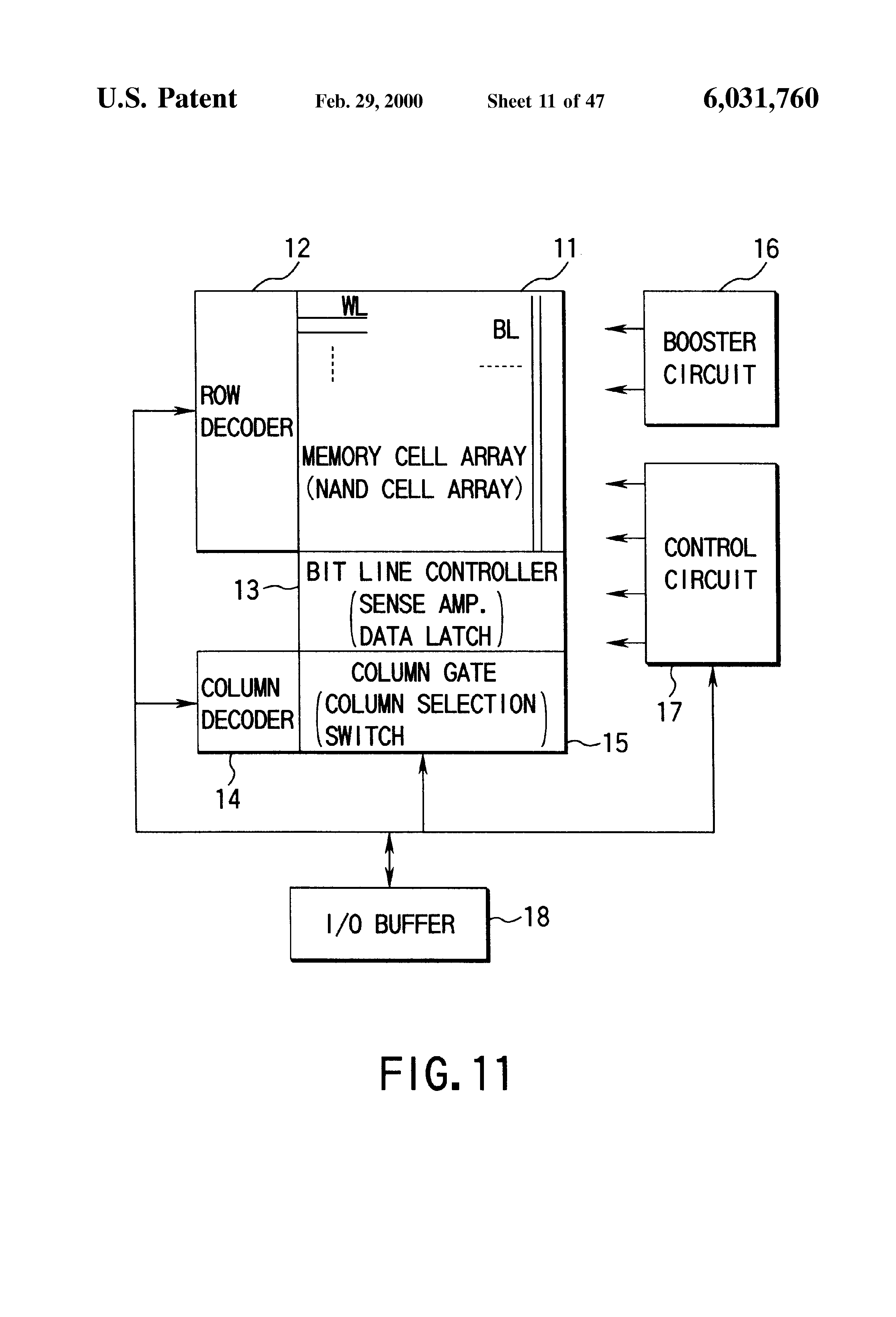 Patent Us6031760 Semiconductor Memory Device And Method Of Latching Circuits Schematic Picture Drawing