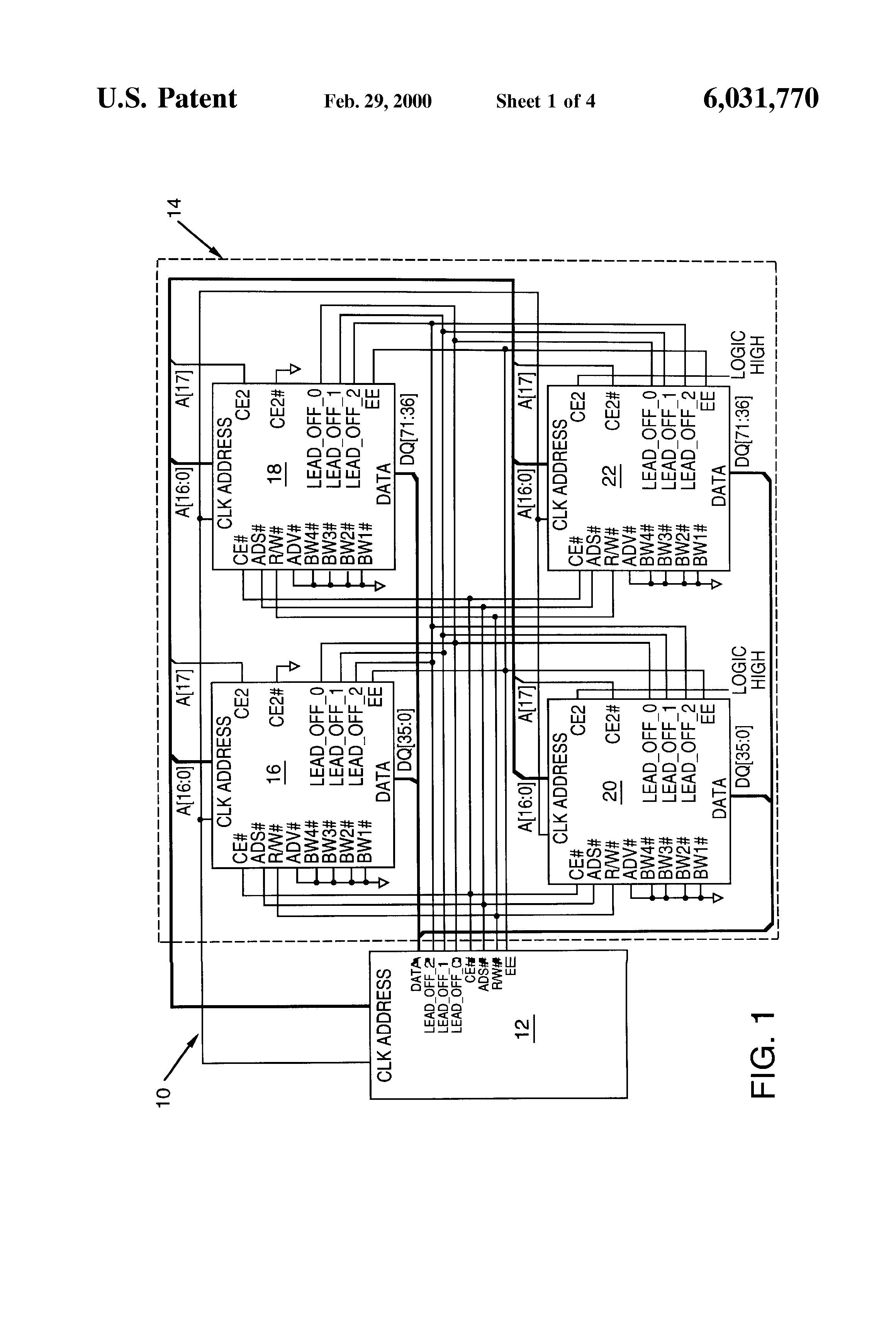 Us6031770 Synchronous Memory With Programmable Read How To A Logic Diagram Patent Drawing