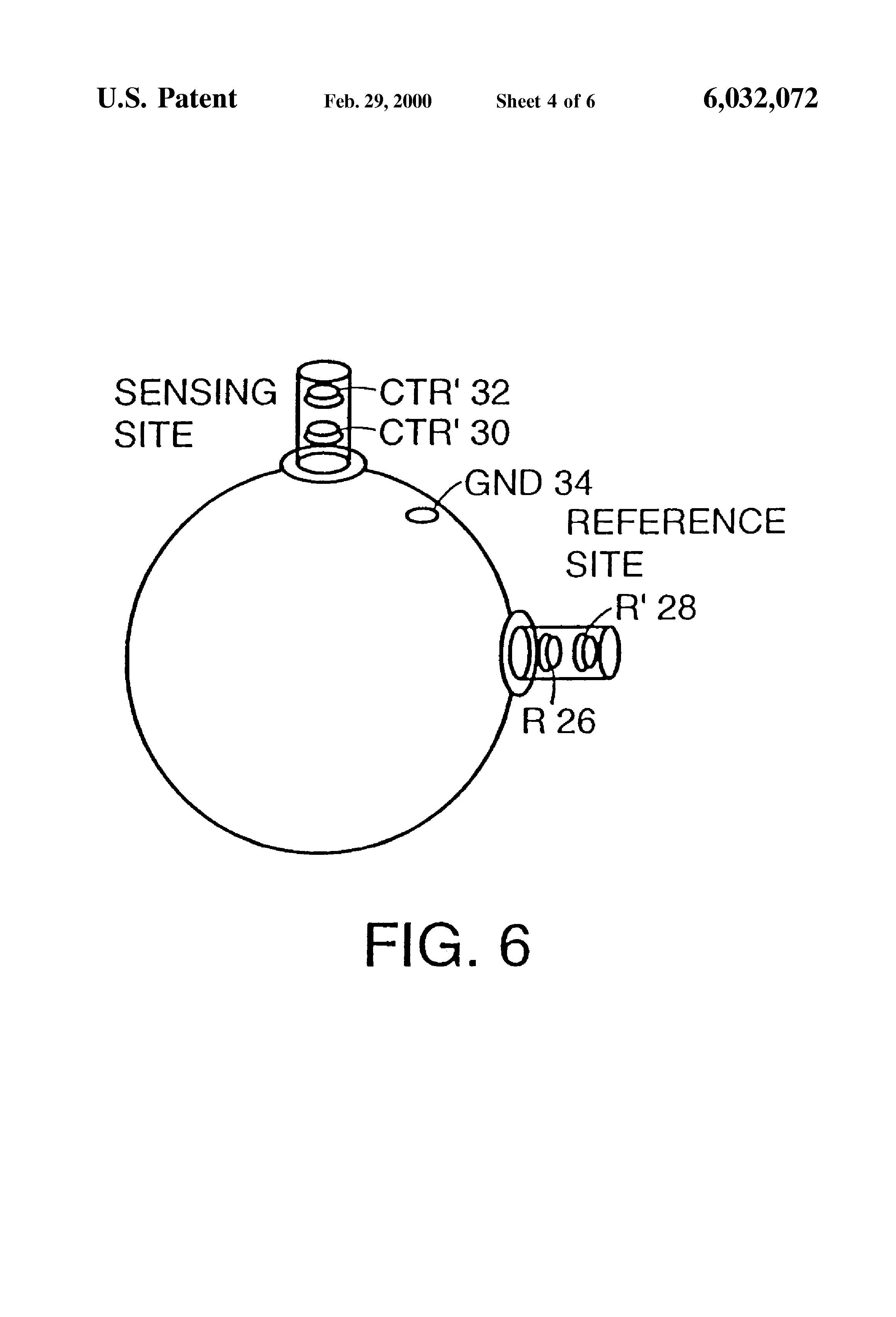 Patent Us6032072 Method For Enhancing And Separating Biopotential Figure 1 Block Diagram Of Capacitively Coupled Emg Electrode Drawing