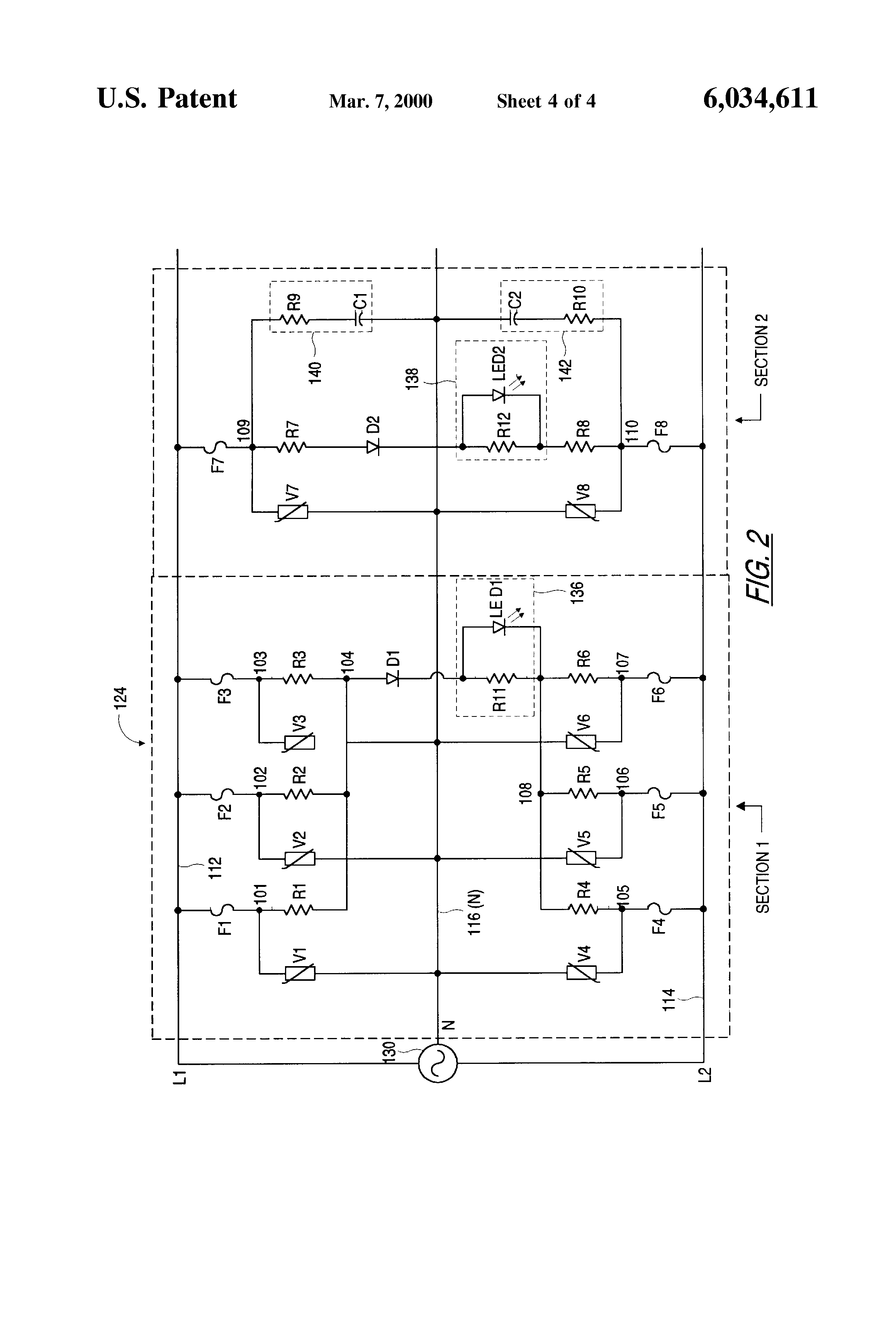 Extending Branch Circuit Electrical Smart Wiring Diagrams Multi Wire Diagram Patent Us6034611 Isolation Device Google Sizing Electric Circuits