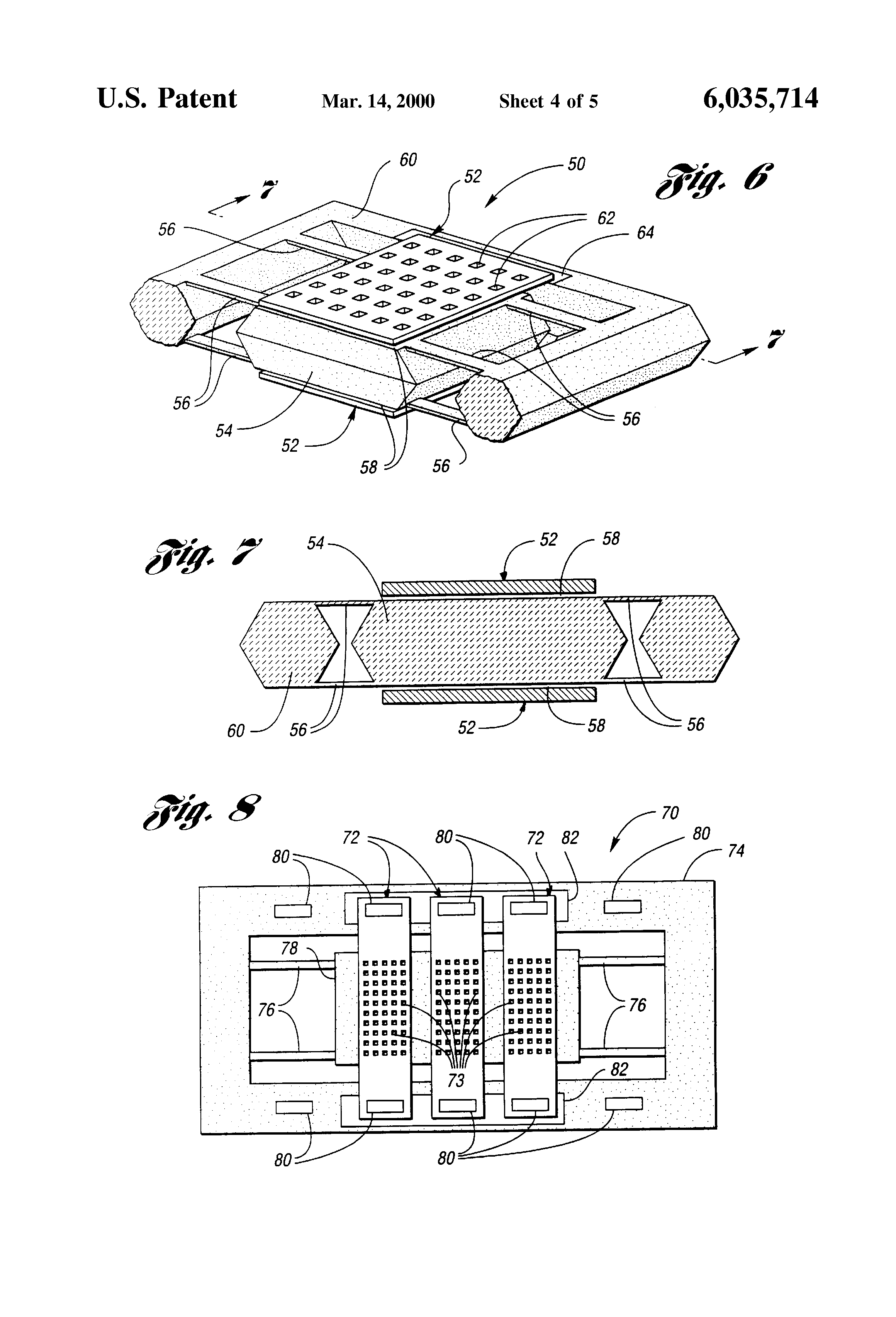 patente us6035714 microelectromechanical capacitive patent drawing