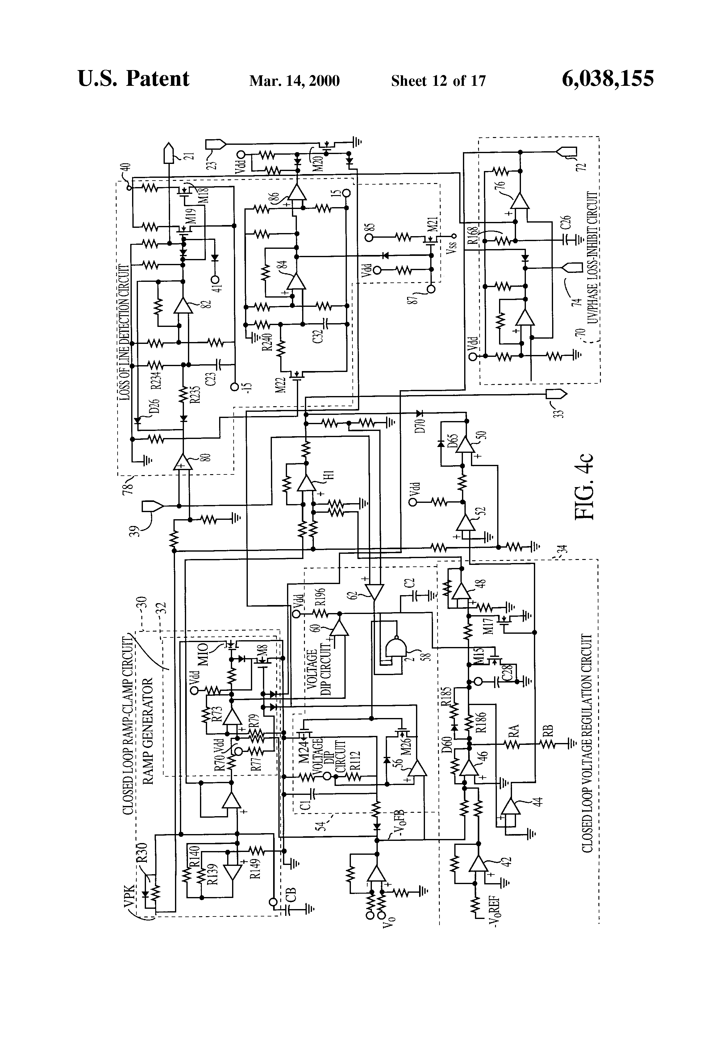 Us6038155 Three Phase Scr Rectifier Bridge With Soft Start Circuit On Capacitor Charging Discharging Diagram Patent Drawing