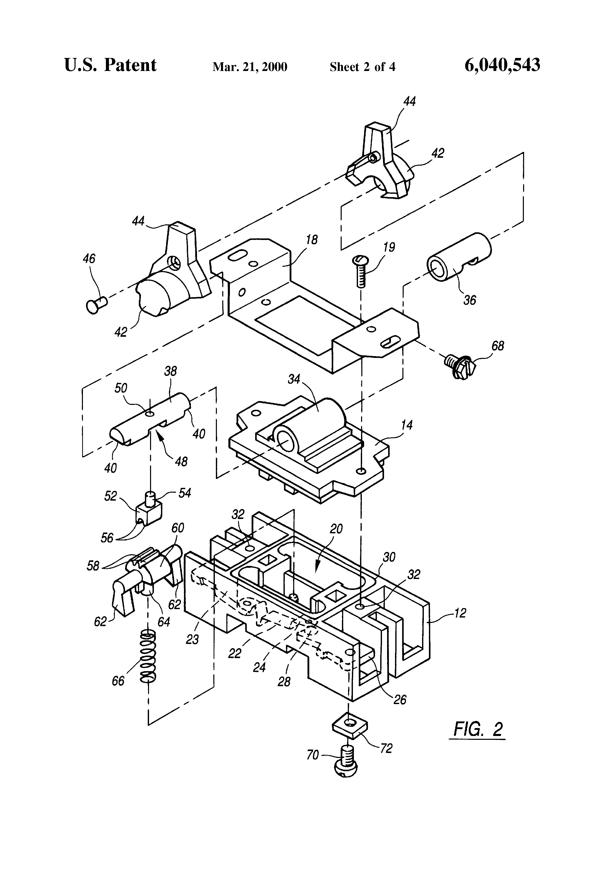 Patent Us6040543 Explosion Proof Toggle Switch Google