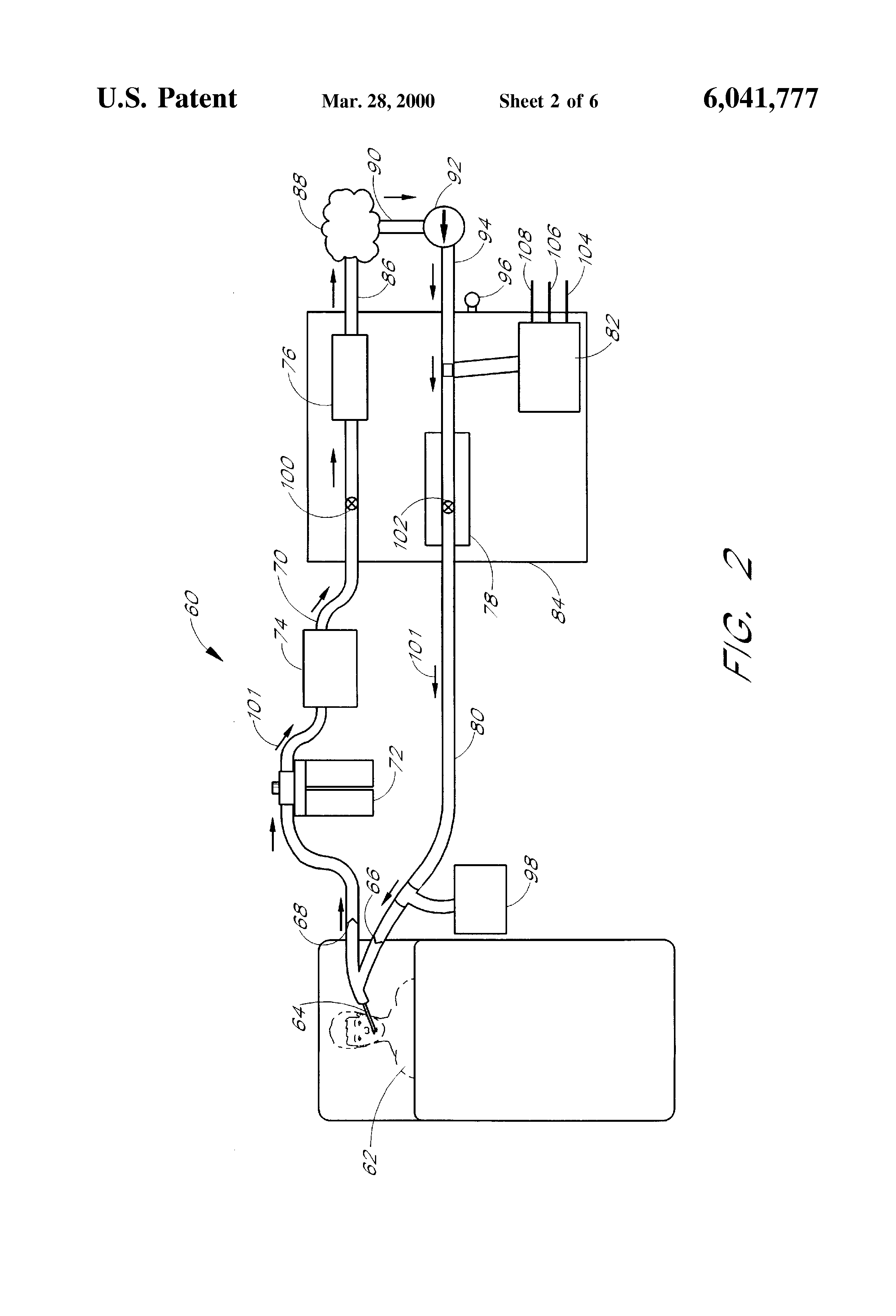 patent us6041777 - methods and apparatus for closed-circuit ventilation therapy