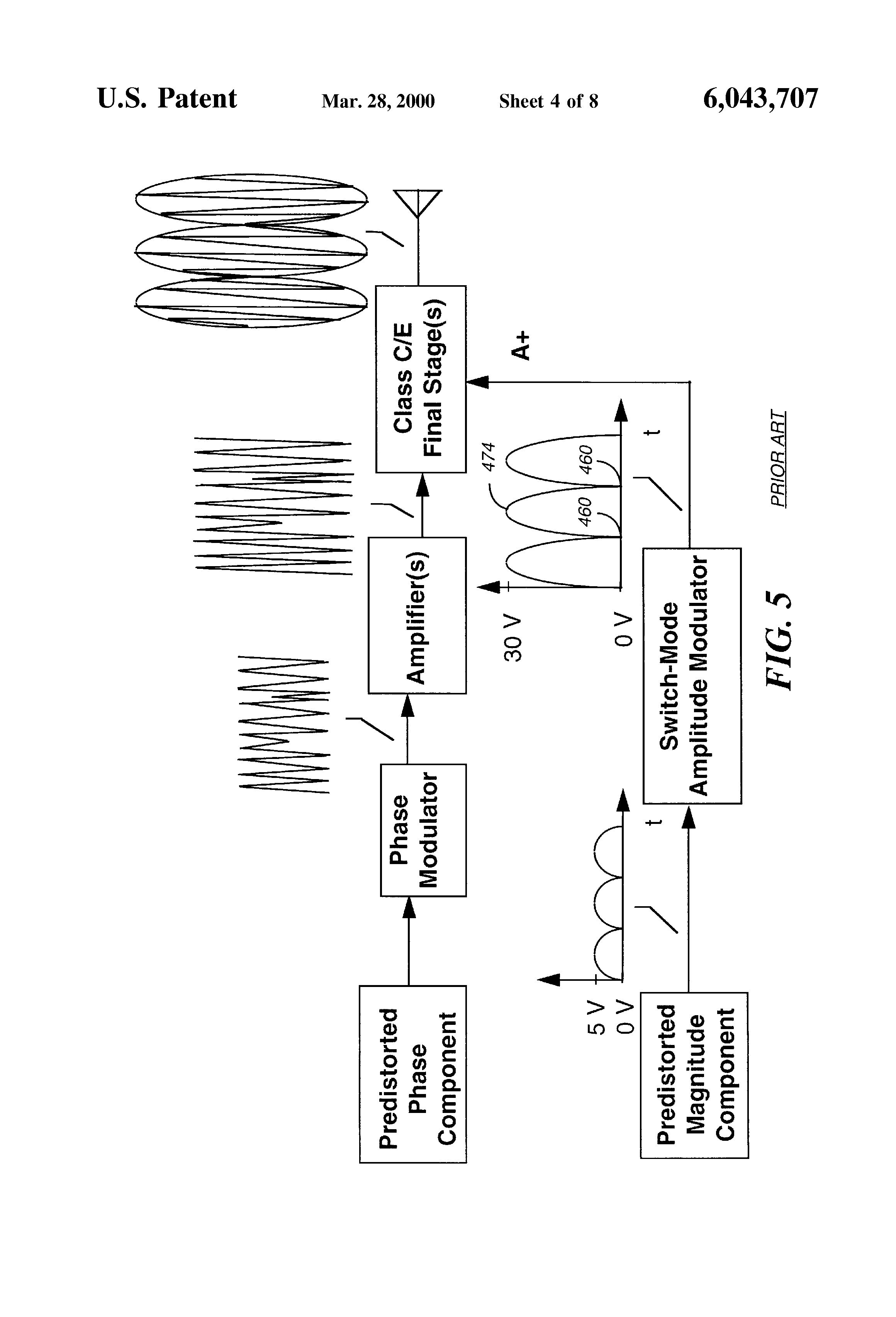Patent Us6043707 Method And Apparatus For Operating A Radio Class C Amplifier Circuit Diagram Drawing