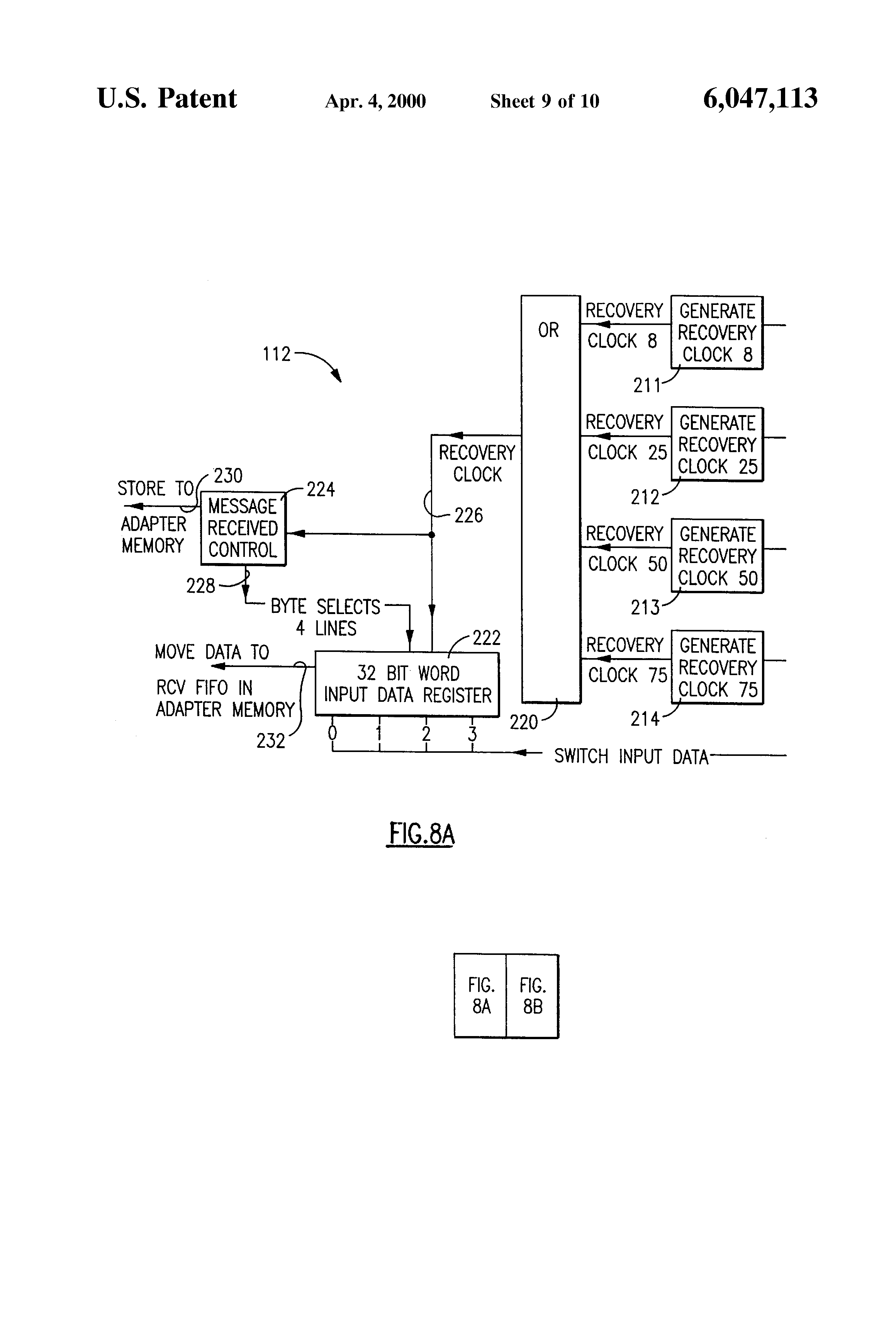 Patent Us6047113 Network Adapters For Multi Speed Transmissions Figure 8 4x1 Multiplexer With 2x4 Decoder Selector Block Diagram Drawing