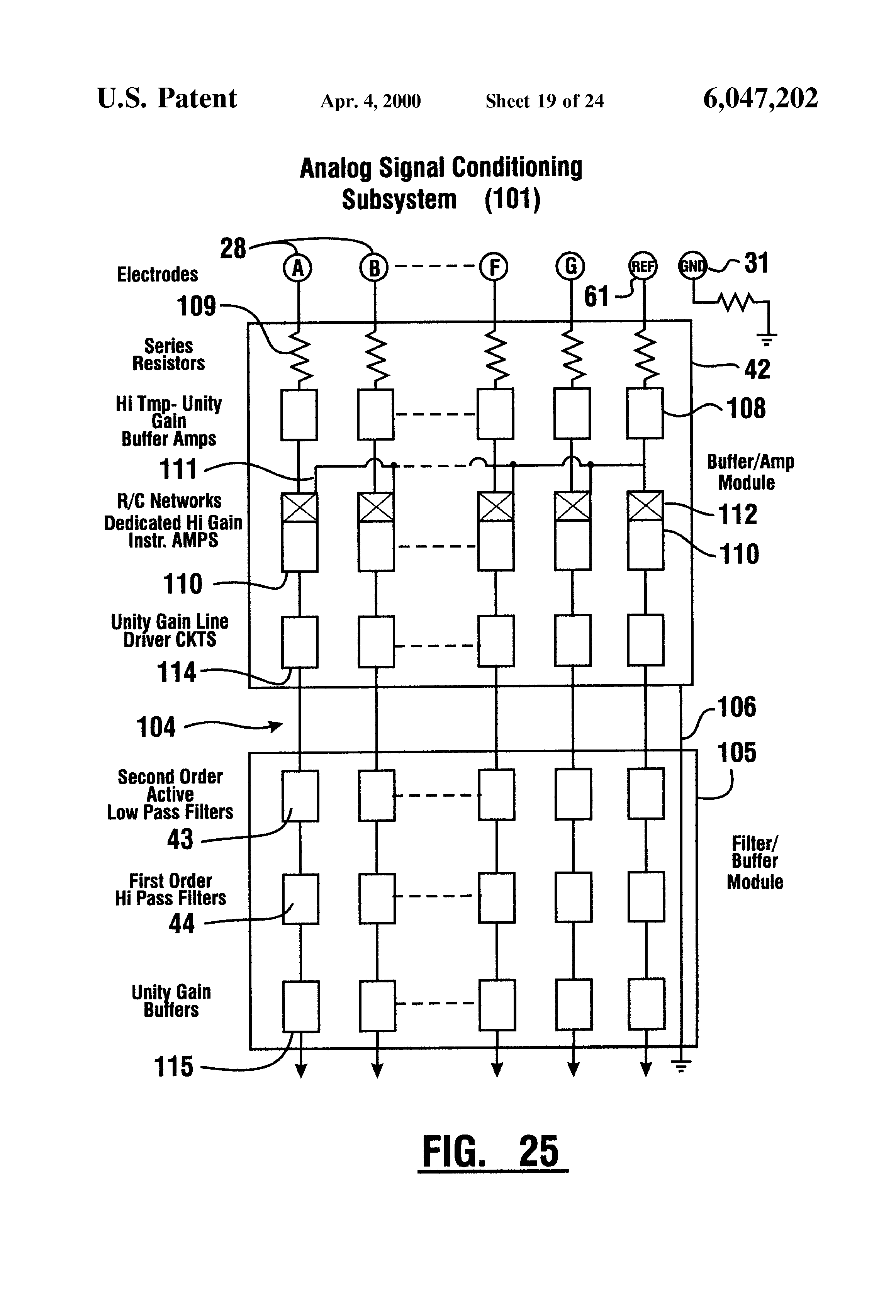 Patent Us6047202 Emg Electrode Google Patents Figure 1 Block Diagram Of Capacitively Coupled Drawing