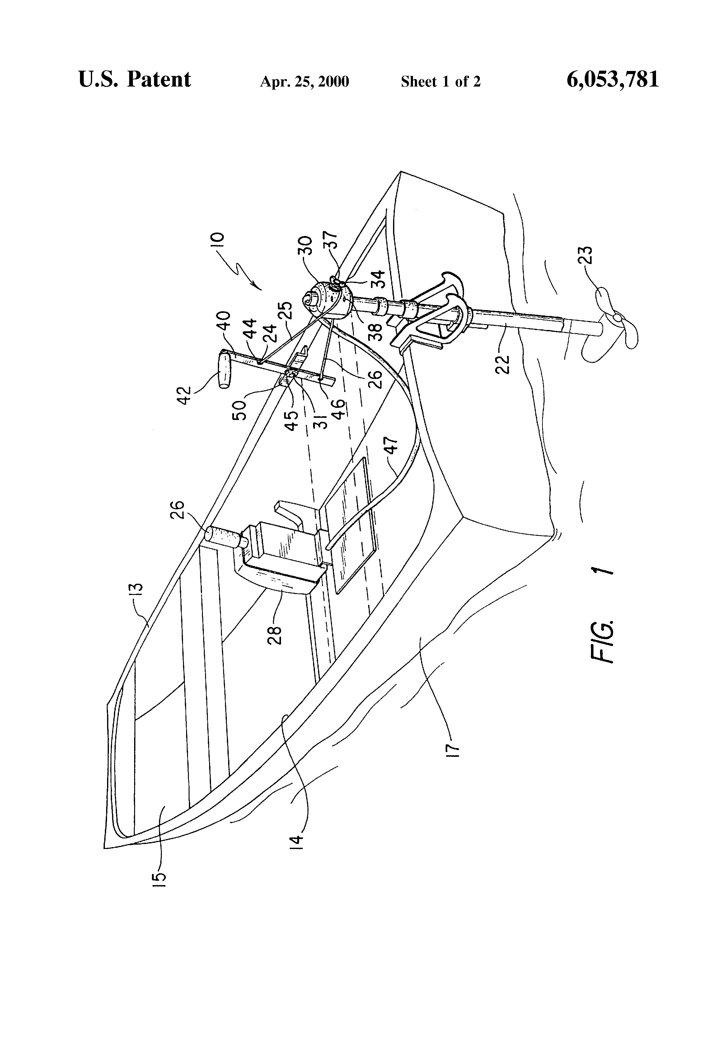 Patent US6053781 - Steering device for trolling motor