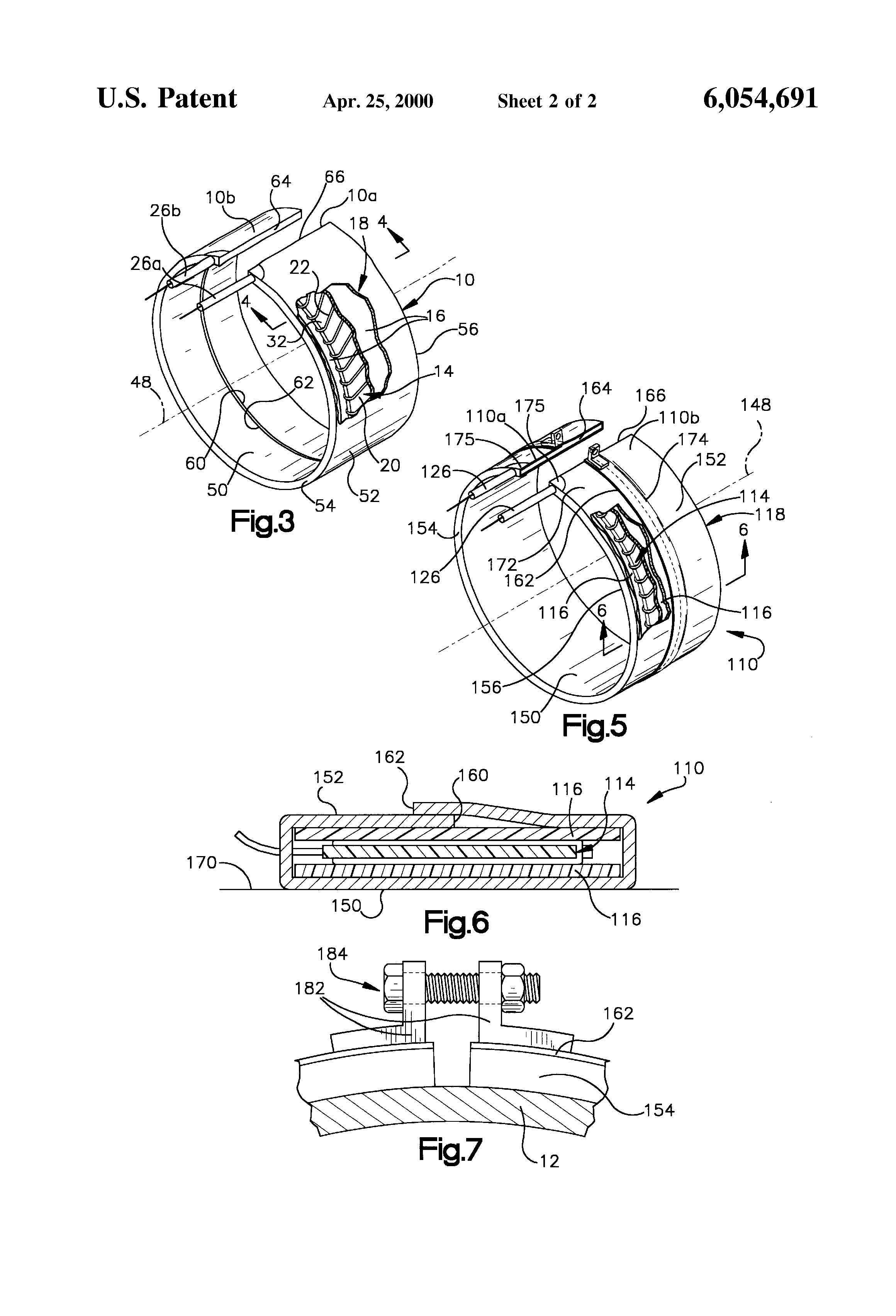 patent us6054691 - band type electric heater